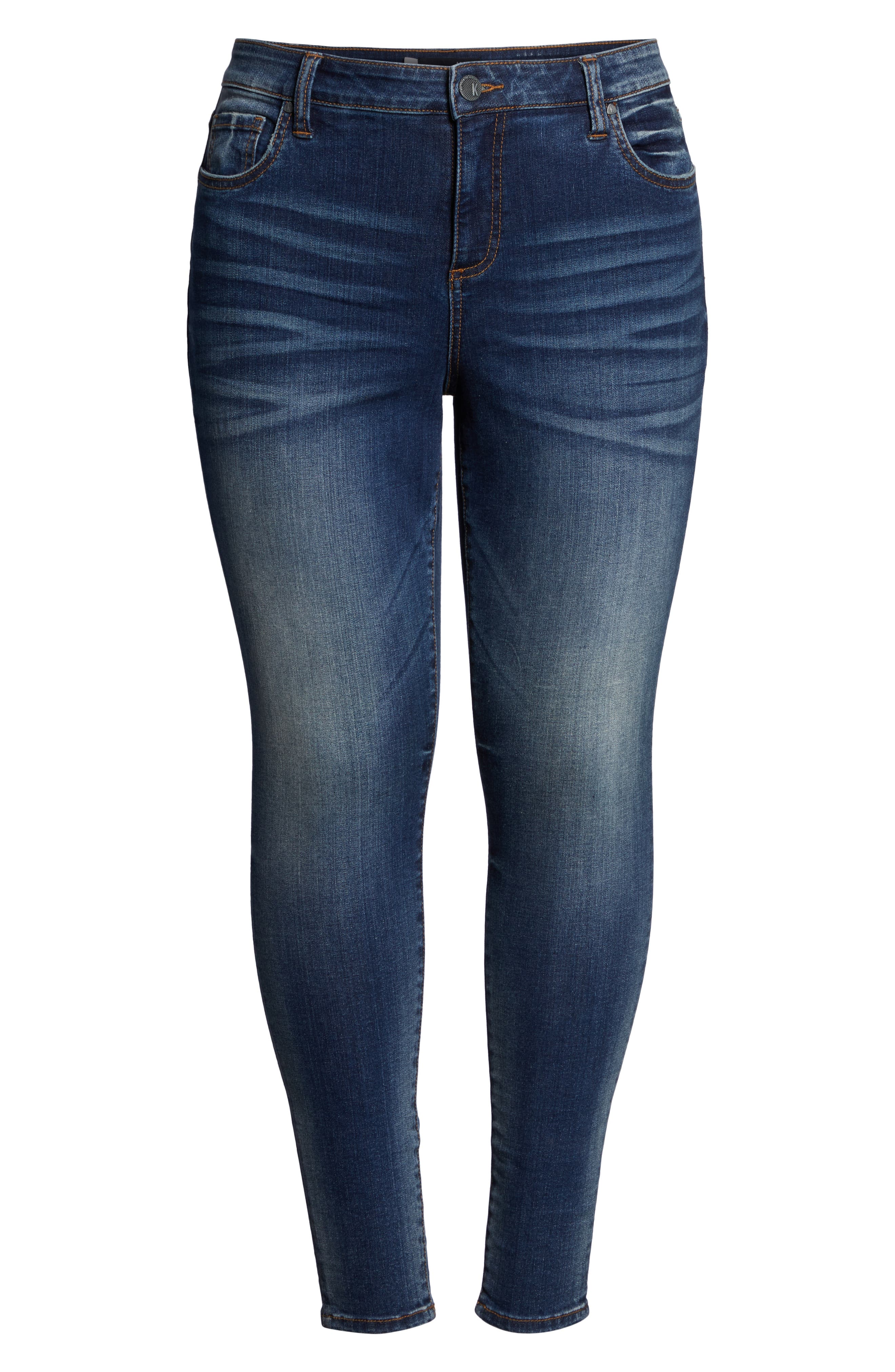 Donna High Waist Skinny Jeans,                             Alternate thumbnail 7, color,                             PLUSH