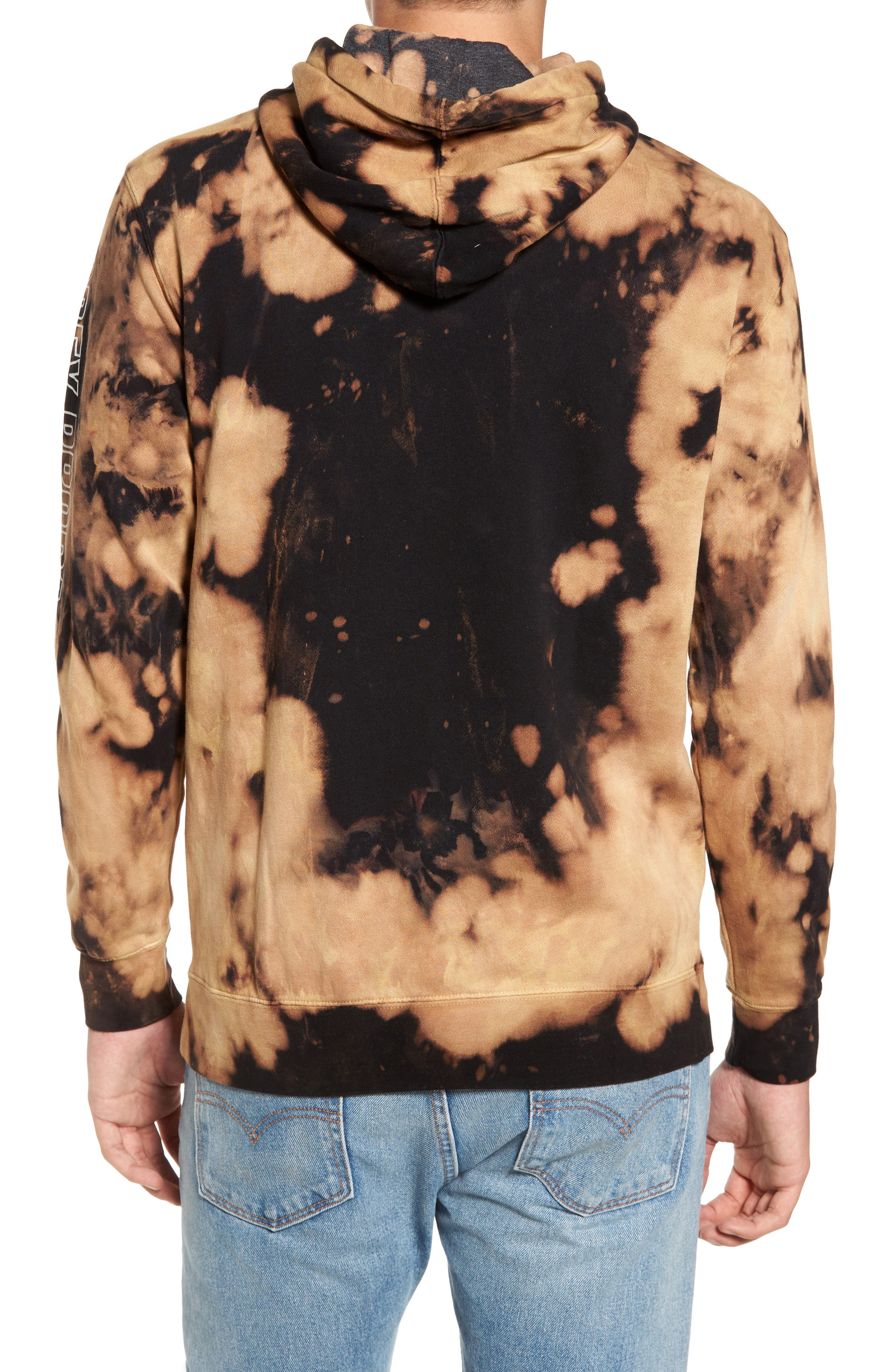 Rough Draft Tie Dye Fleece Hoodie,                             Alternate thumbnail 2, color,                             001
