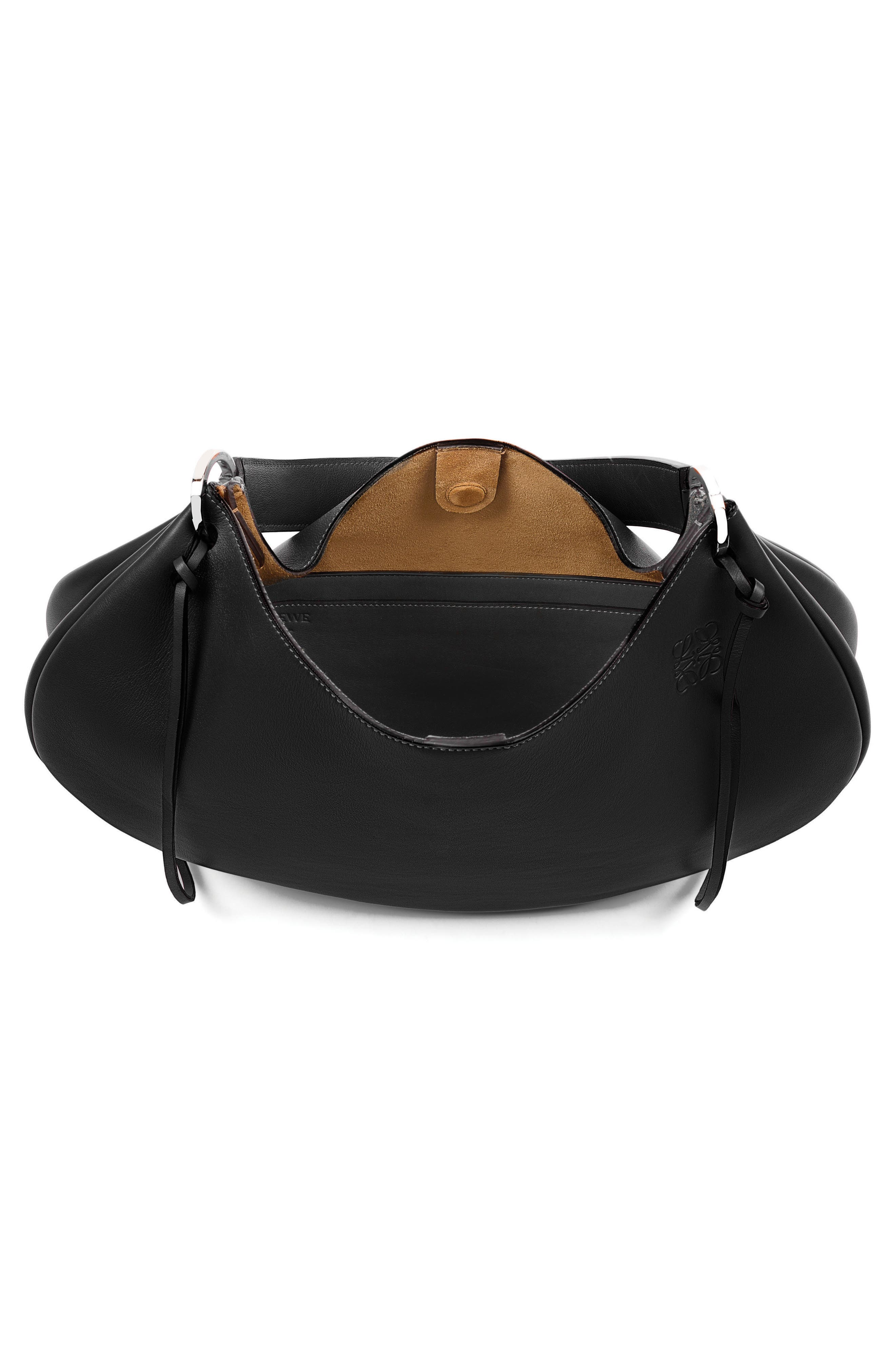 Fortune Leather Hobo,                             Alternate thumbnail 3, color,                             001