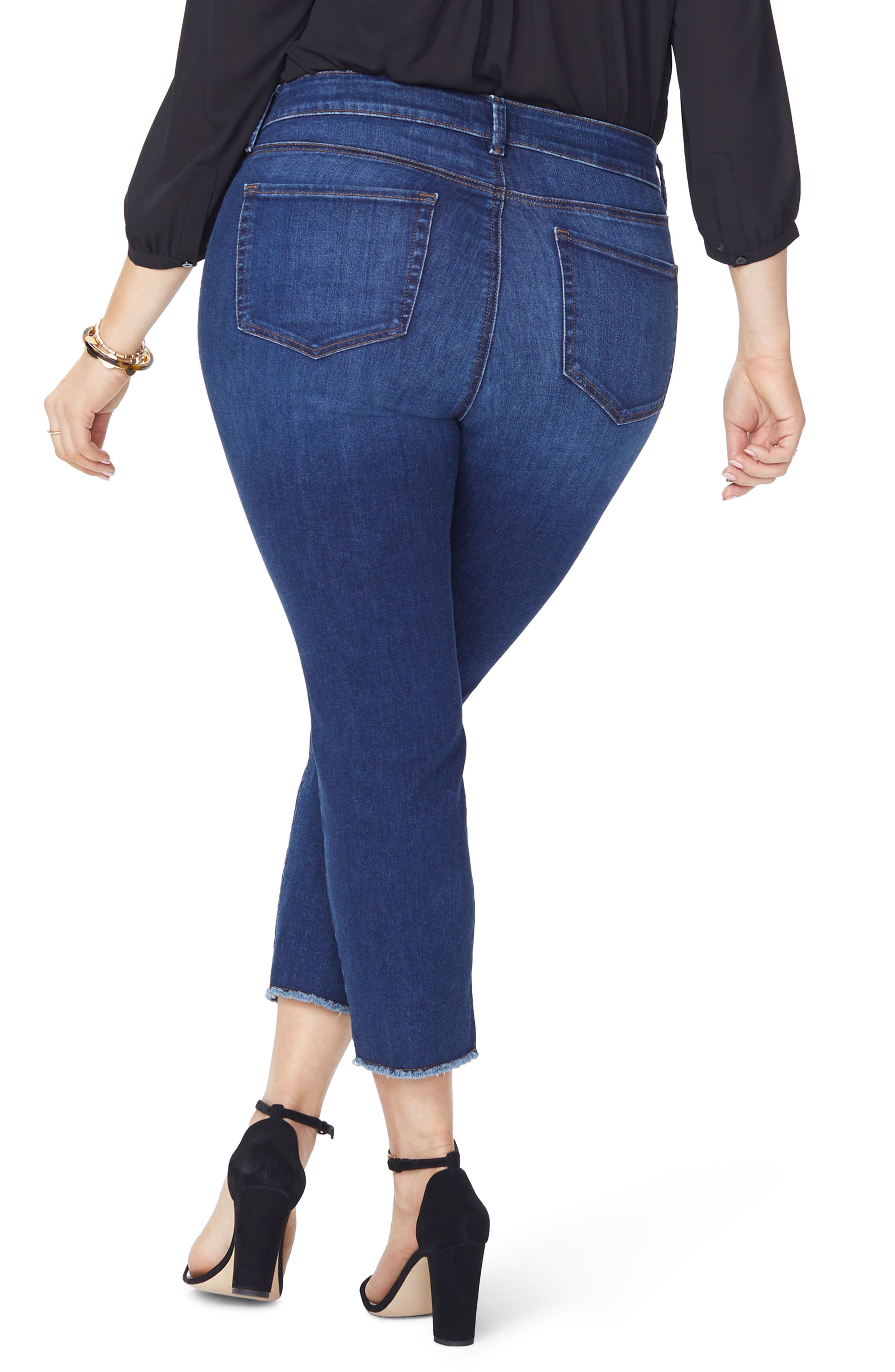 Sheri Fray Hem Stretch Slim Ankle Jeans,                             Alternate thumbnail 2, color,                             428