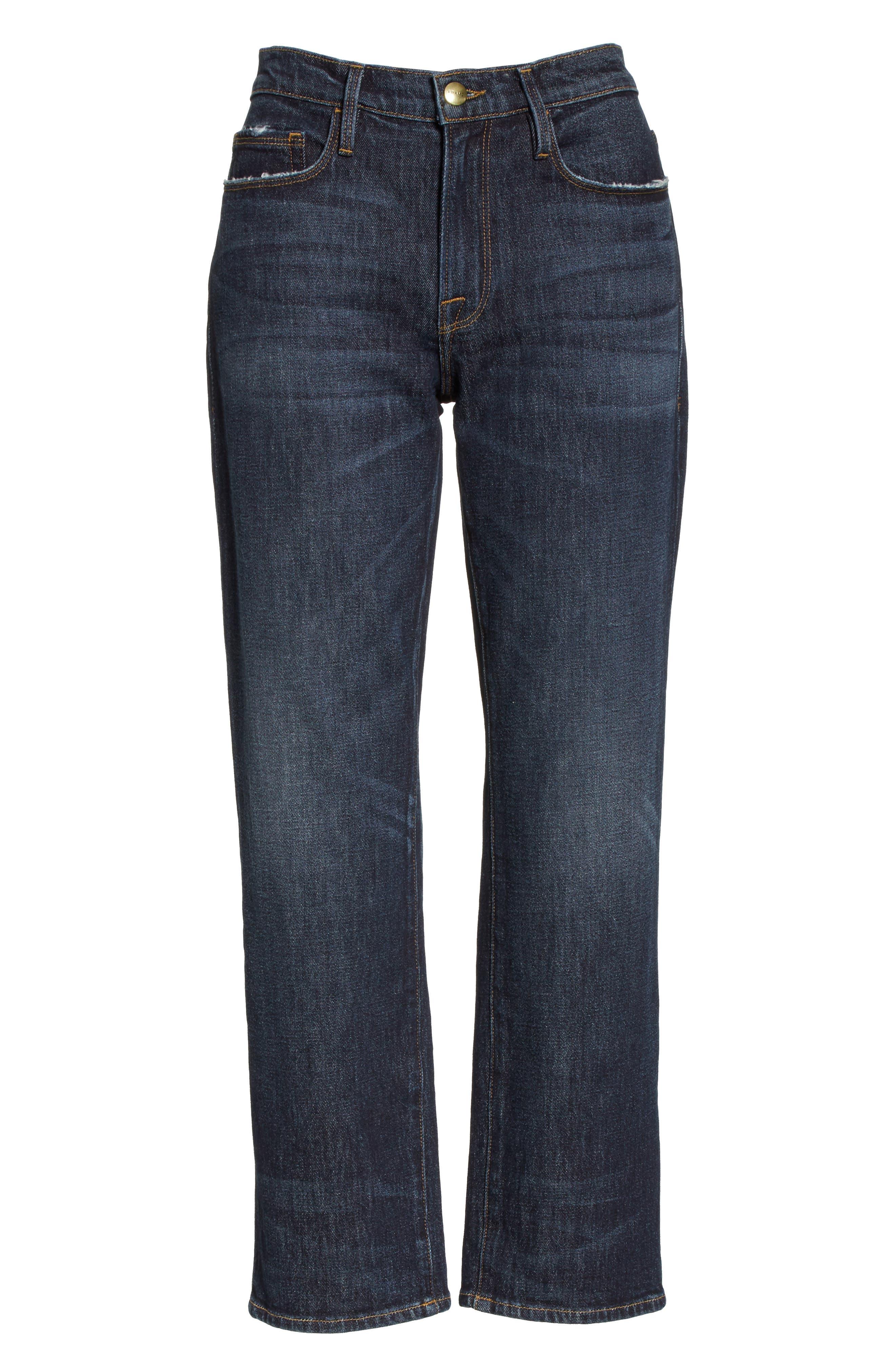 Straight Leg Ankle Jeans,                             Alternate thumbnail 7, color,                             402
