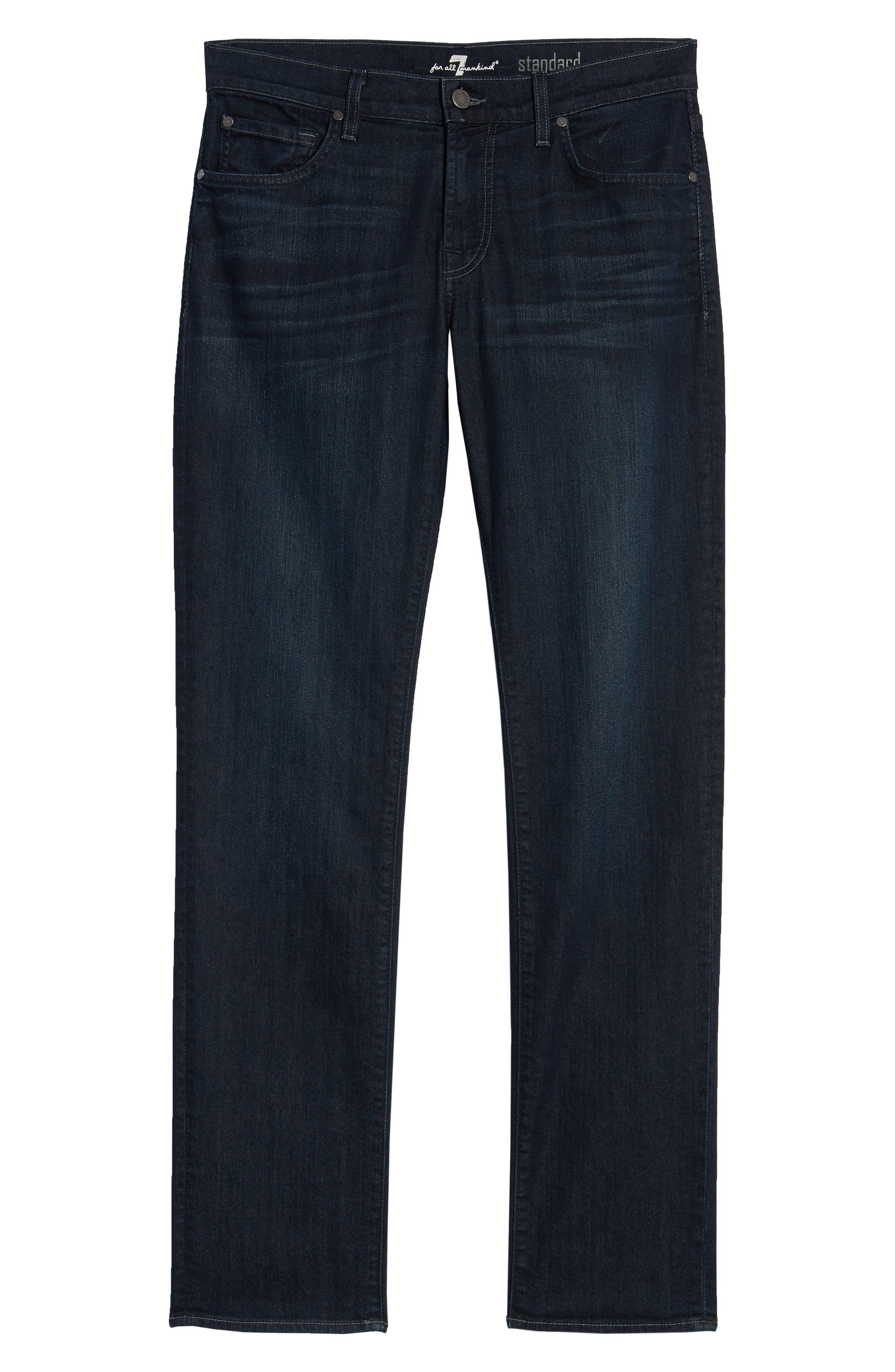 Airweft Standard Straight Leg Jeans,                             Alternate thumbnail 6, color,                             PERENNIAL