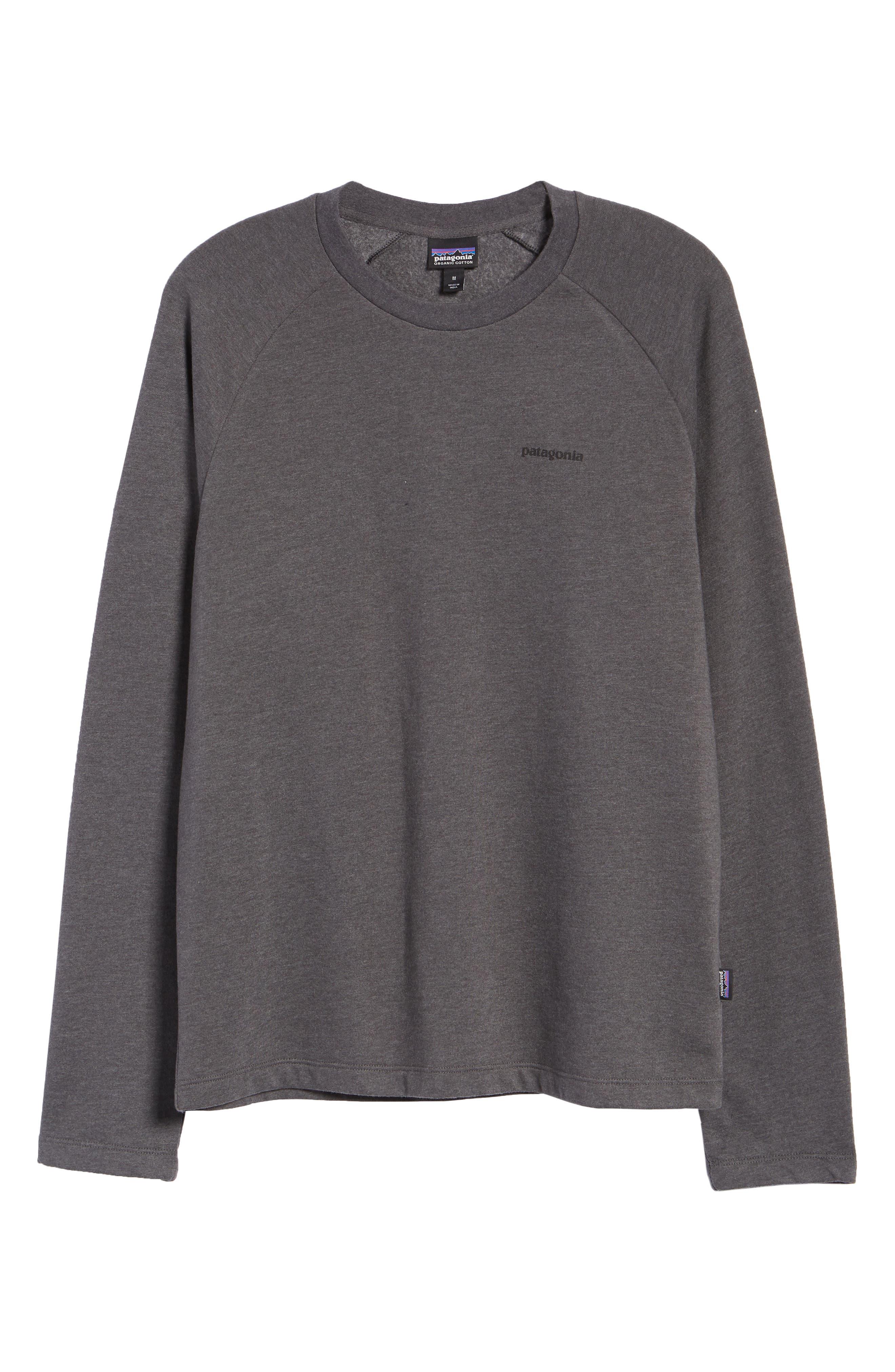 PATAGONIA,                             P-6 Logo Slim Fit Lightweight Sweatshirt,                             Alternate thumbnail 6, color,                             FORGE GREY