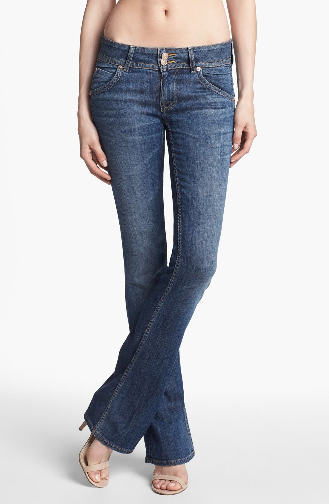 Signature Bootcut Jeans,                         Main,                         color, HACKNEY
