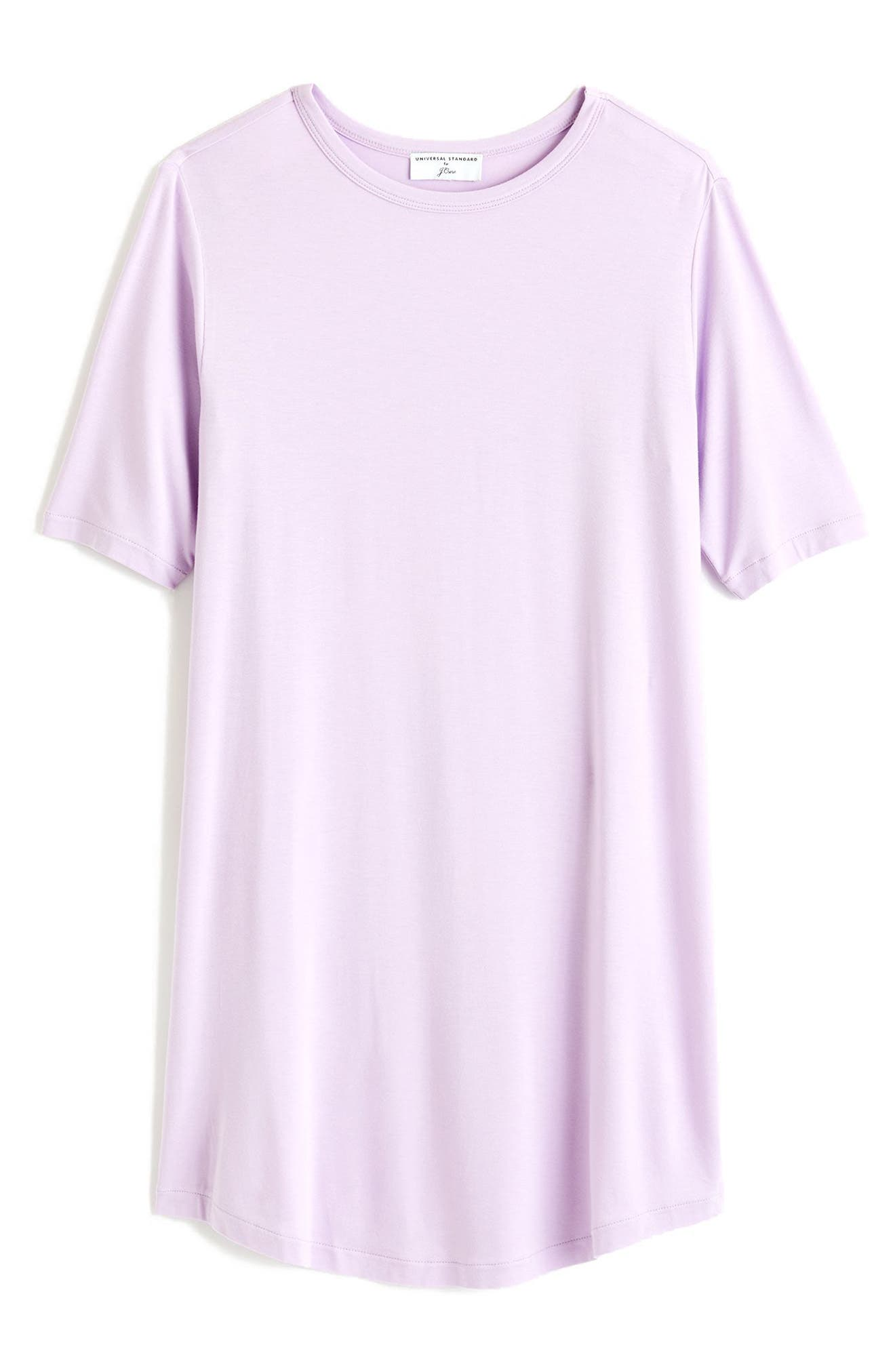 for J.Crew Crewneck Tunic,                         Main,                         color, ORCHID BLOOM