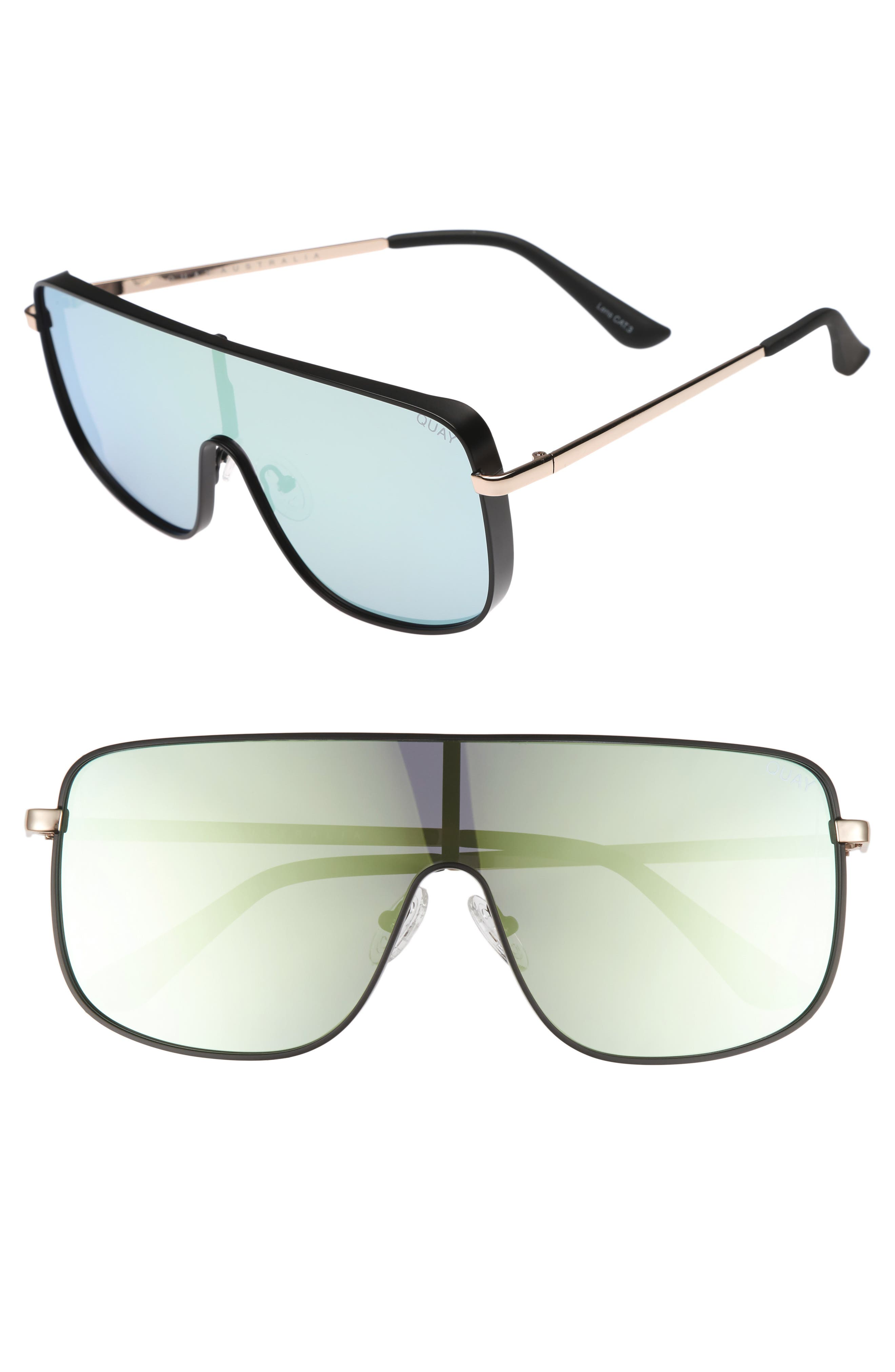 Unbothered 68mm Shield Sunglasses,                         Main,                         color, 001