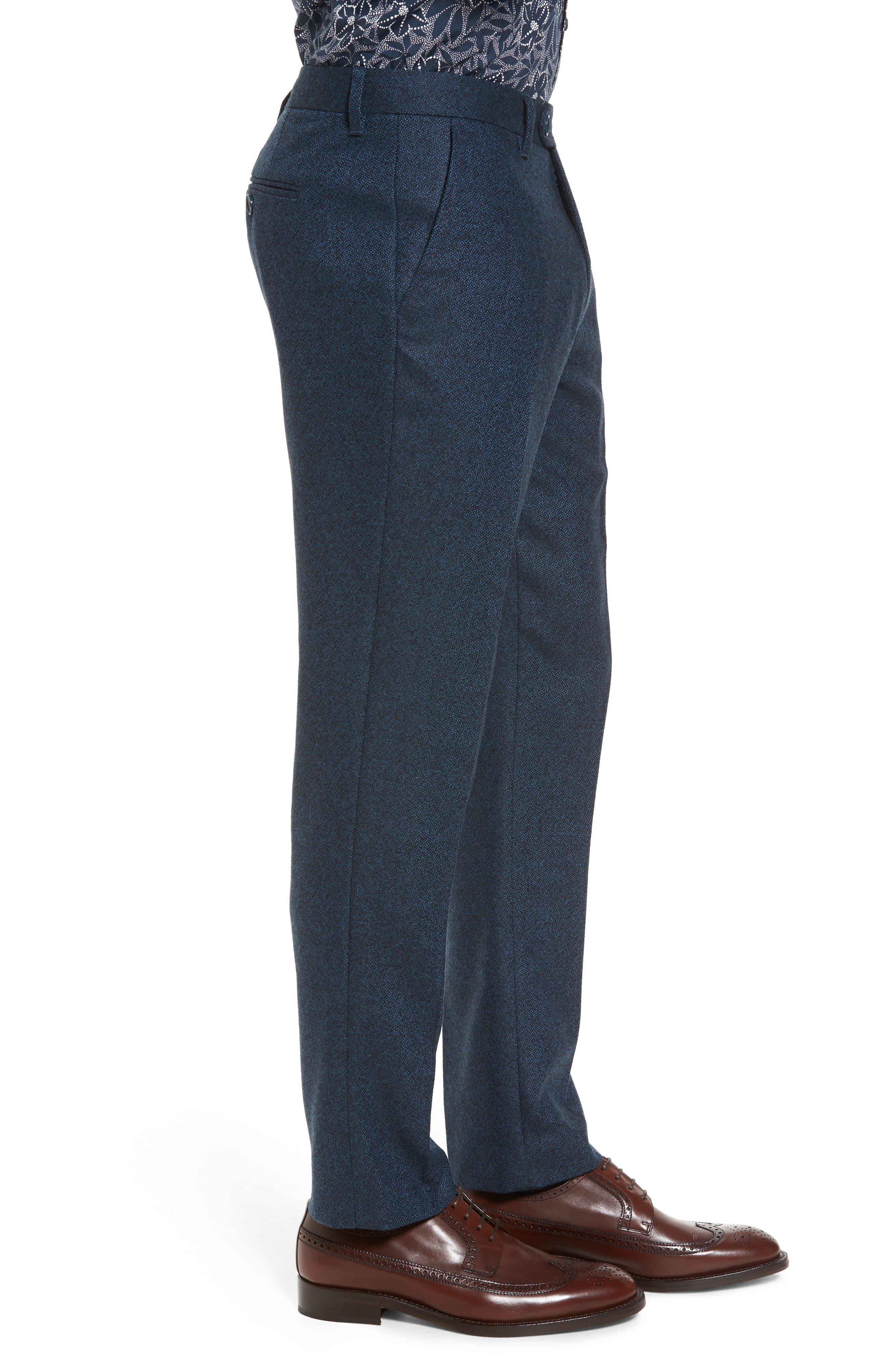 Modern Slim Fit Trousers,                             Alternate thumbnail 6, color,