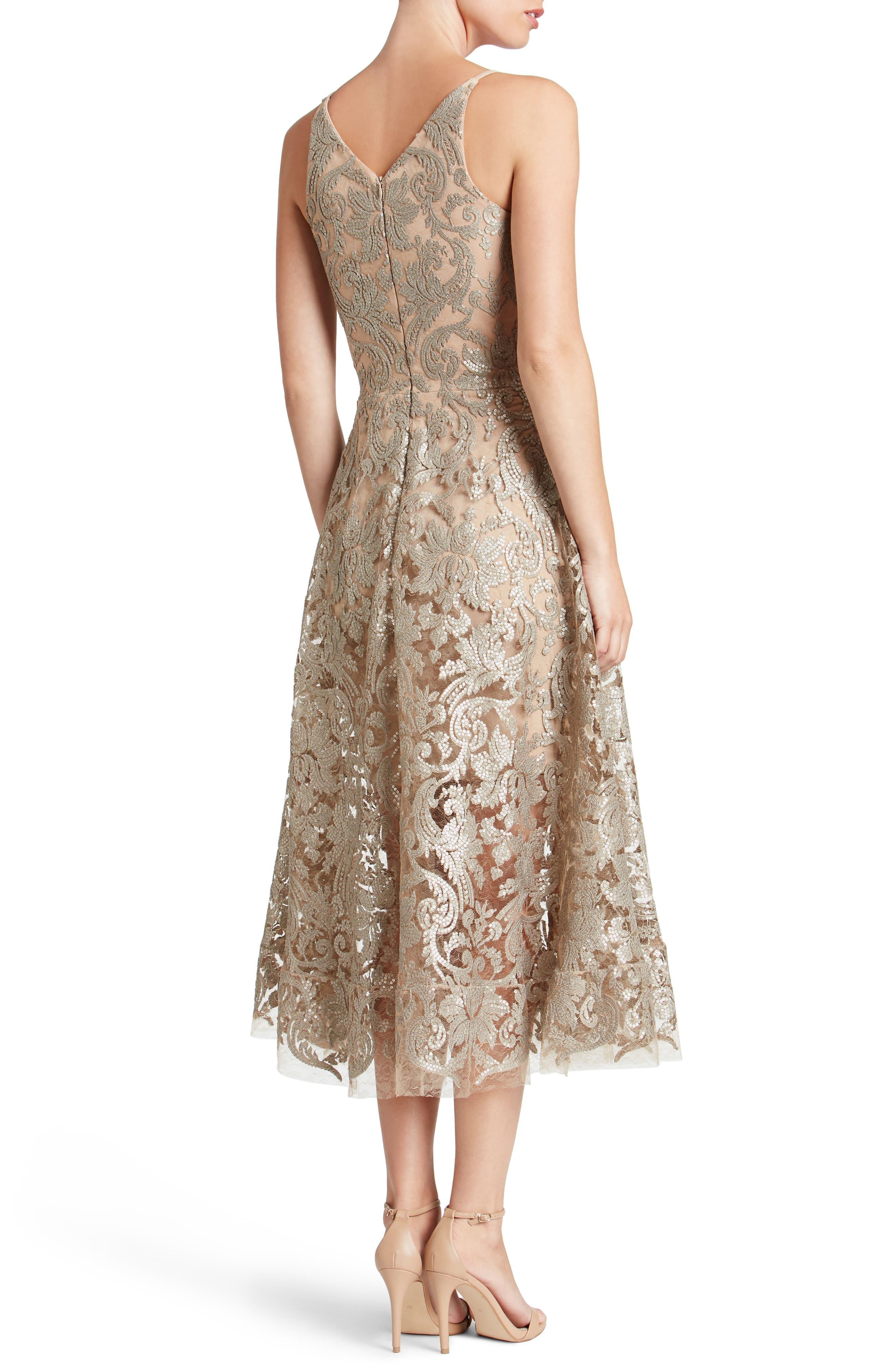 Blair Embellished Fit & Flare Dress,                             Alternate thumbnail 9, color,