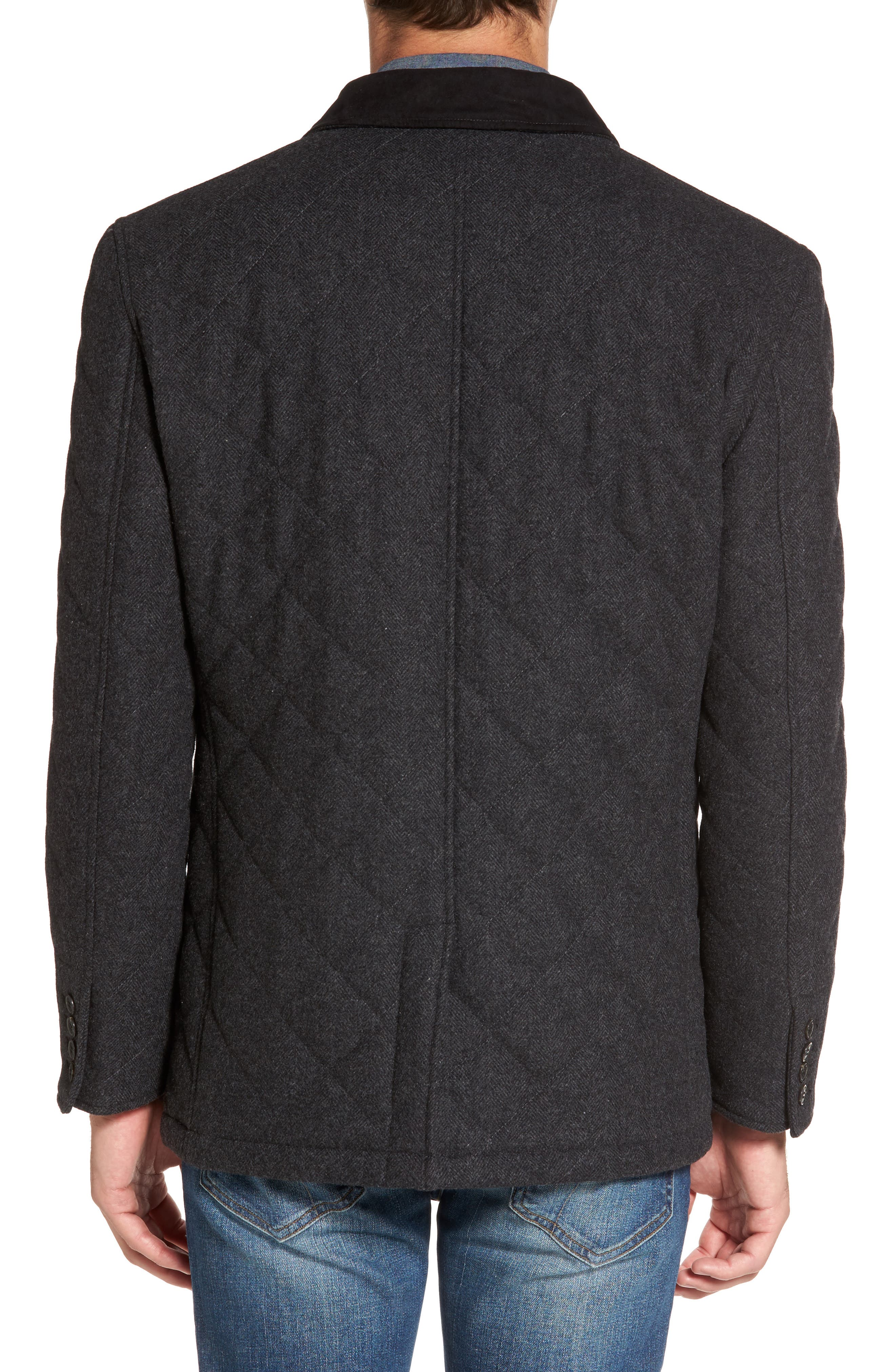 'Shooter' Wool Blend Quilted Jacket,                             Alternate thumbnail 4, color,