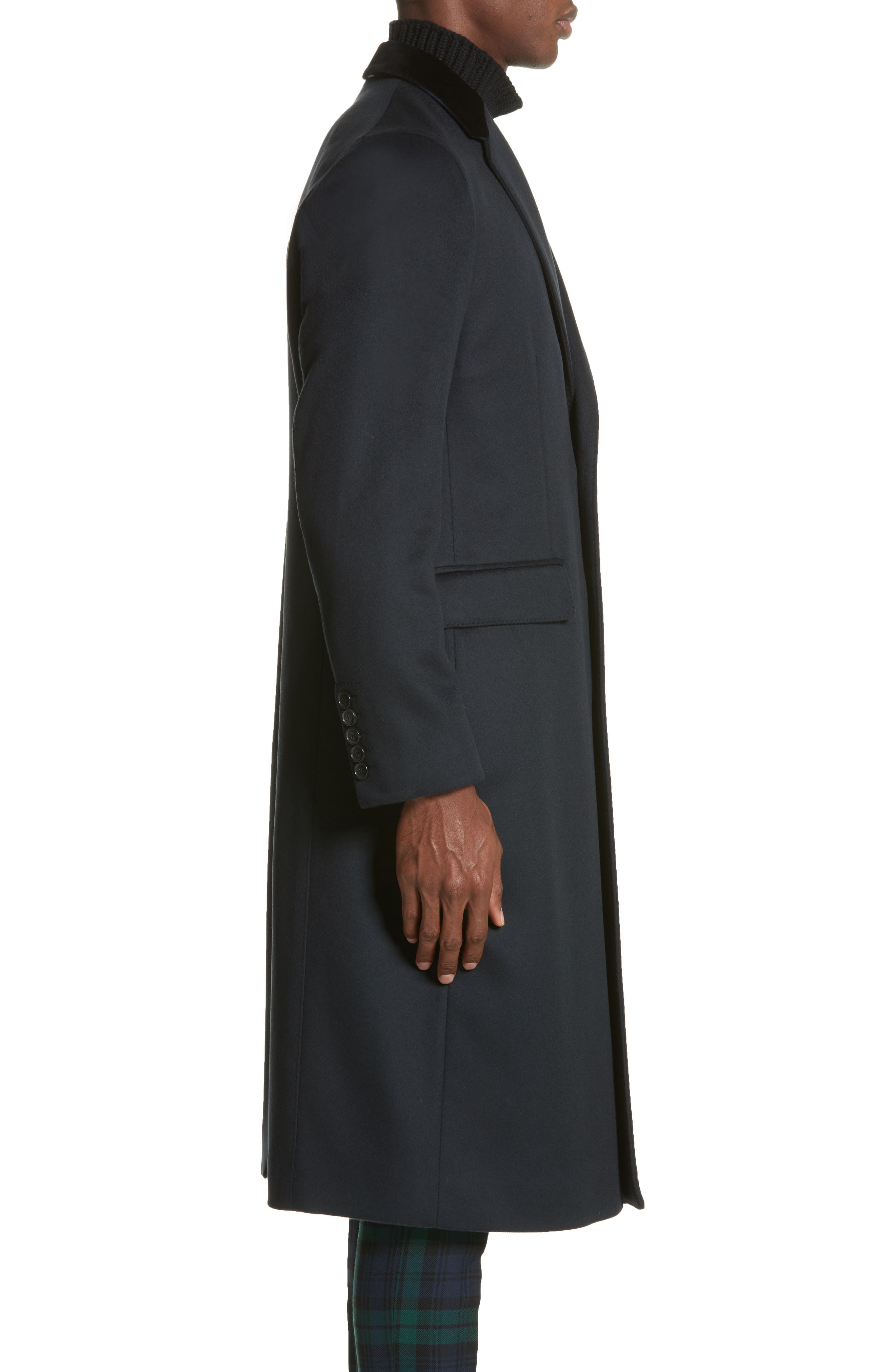 Flynn Wool & Cashmere Topcoat,                             Alternate thumbnail 3, color,                             410