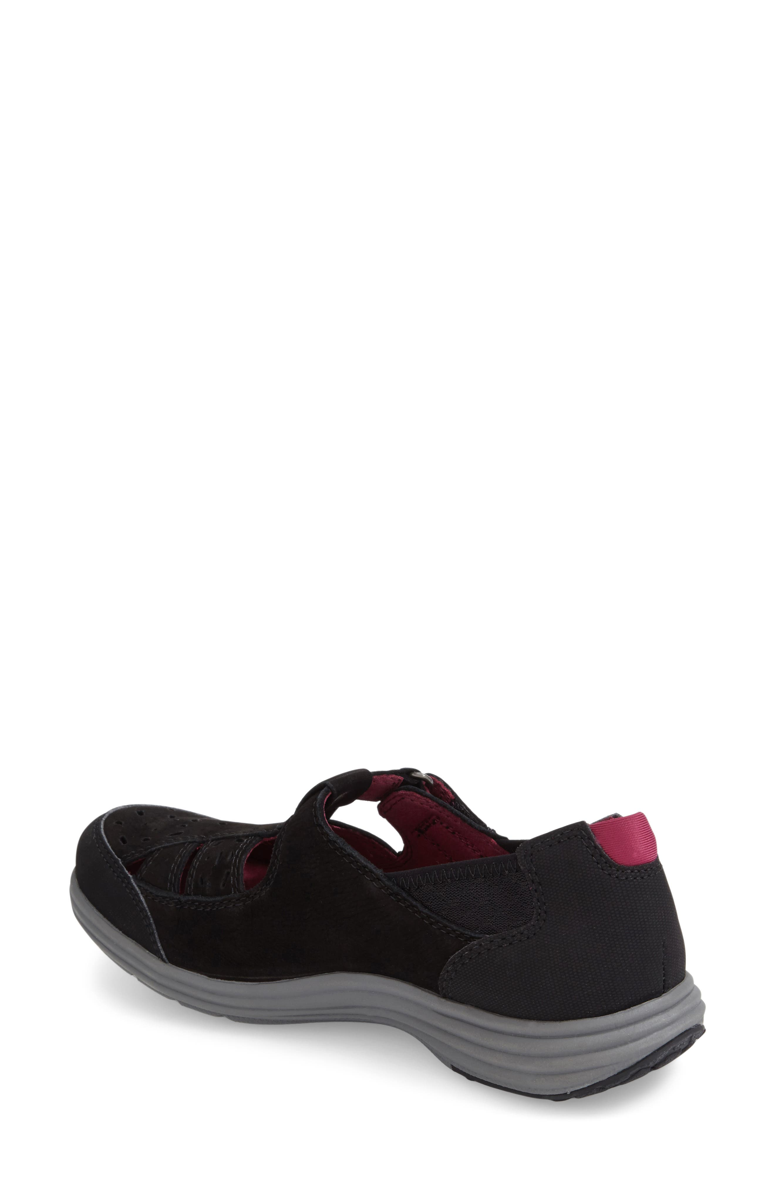 'Barbara' Sneaker,                             Alternate thumbnail 2, color,                             BLACK LEATHER