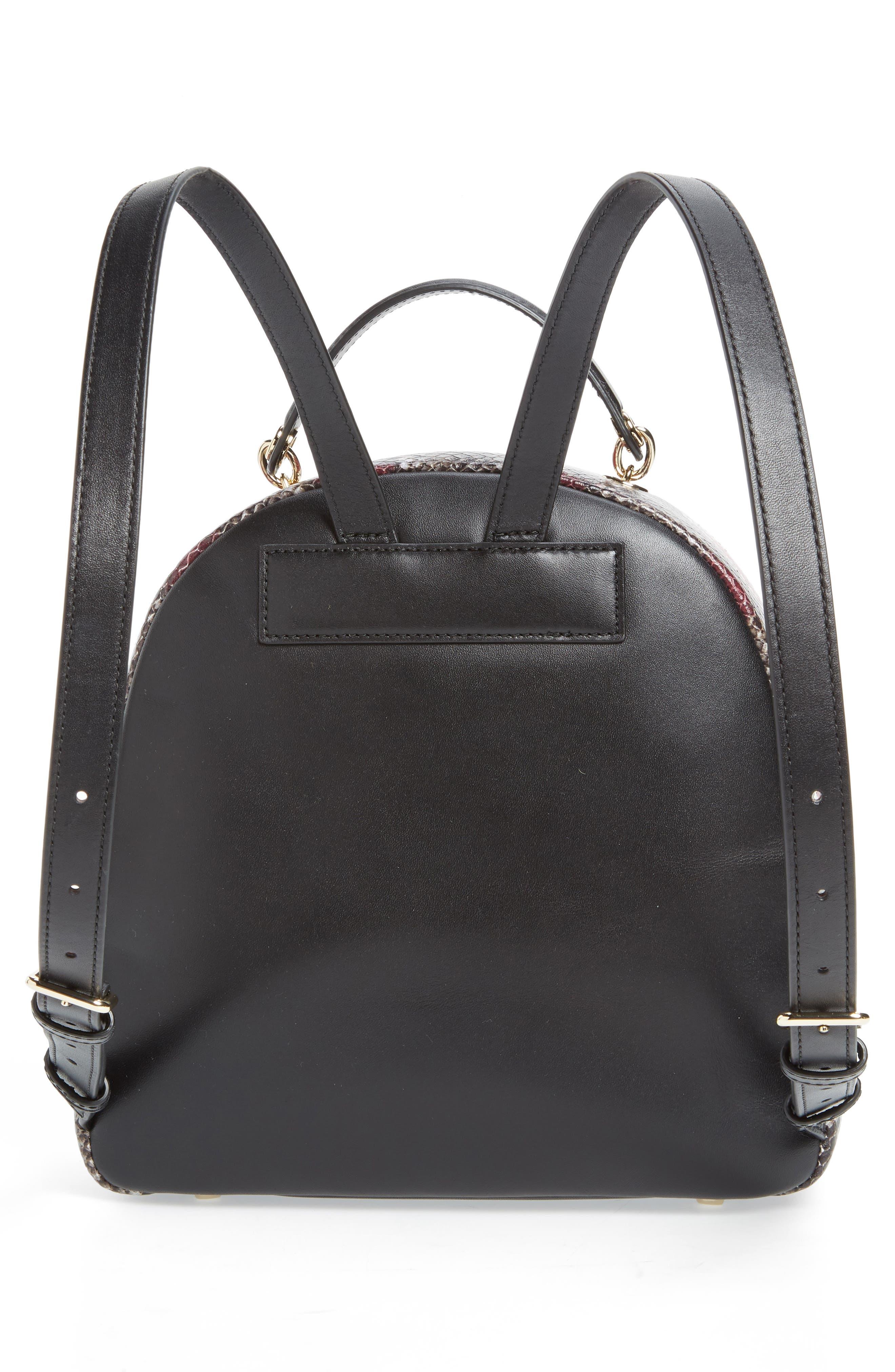 reese park - ethel snake embossed leather backpack,                             Alternate thumbnail 3, color,                             200