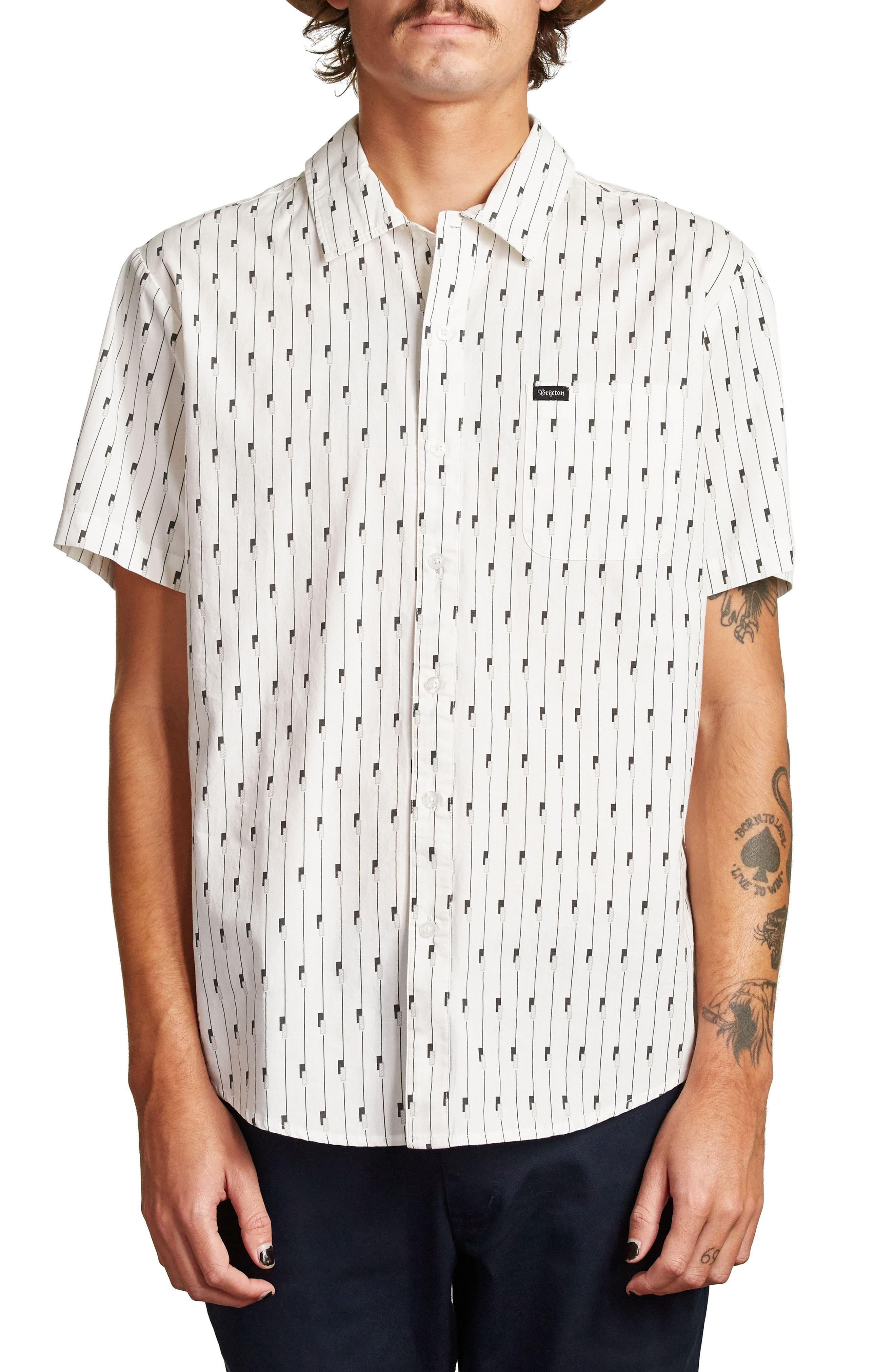 Charter Woven Shirt,                             Main thumbnail 1, color,                             100