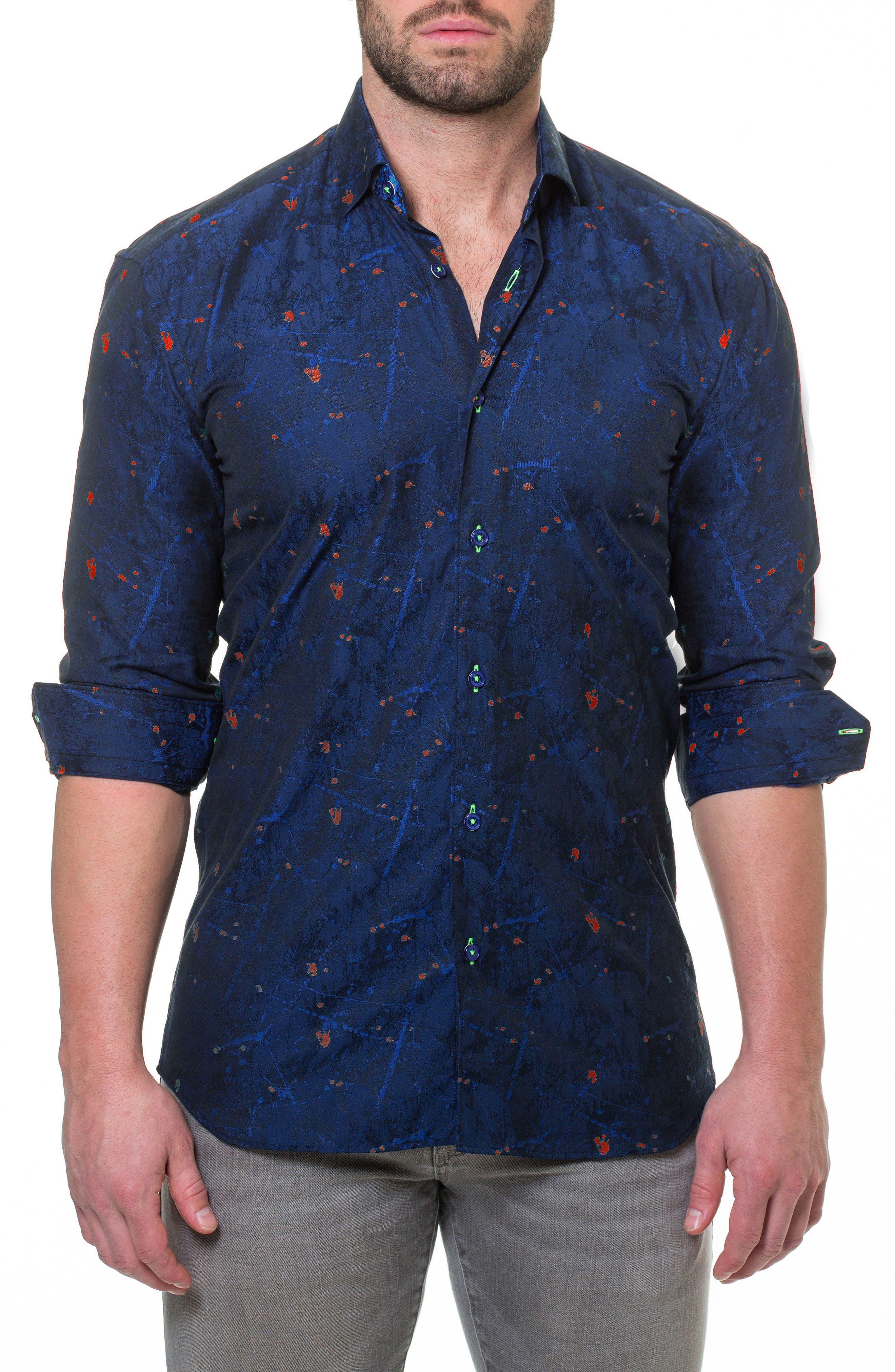 Luxor Reaction Slim Fit Sport Shirt,                             Alternate thumbnail 3, color,                             420
