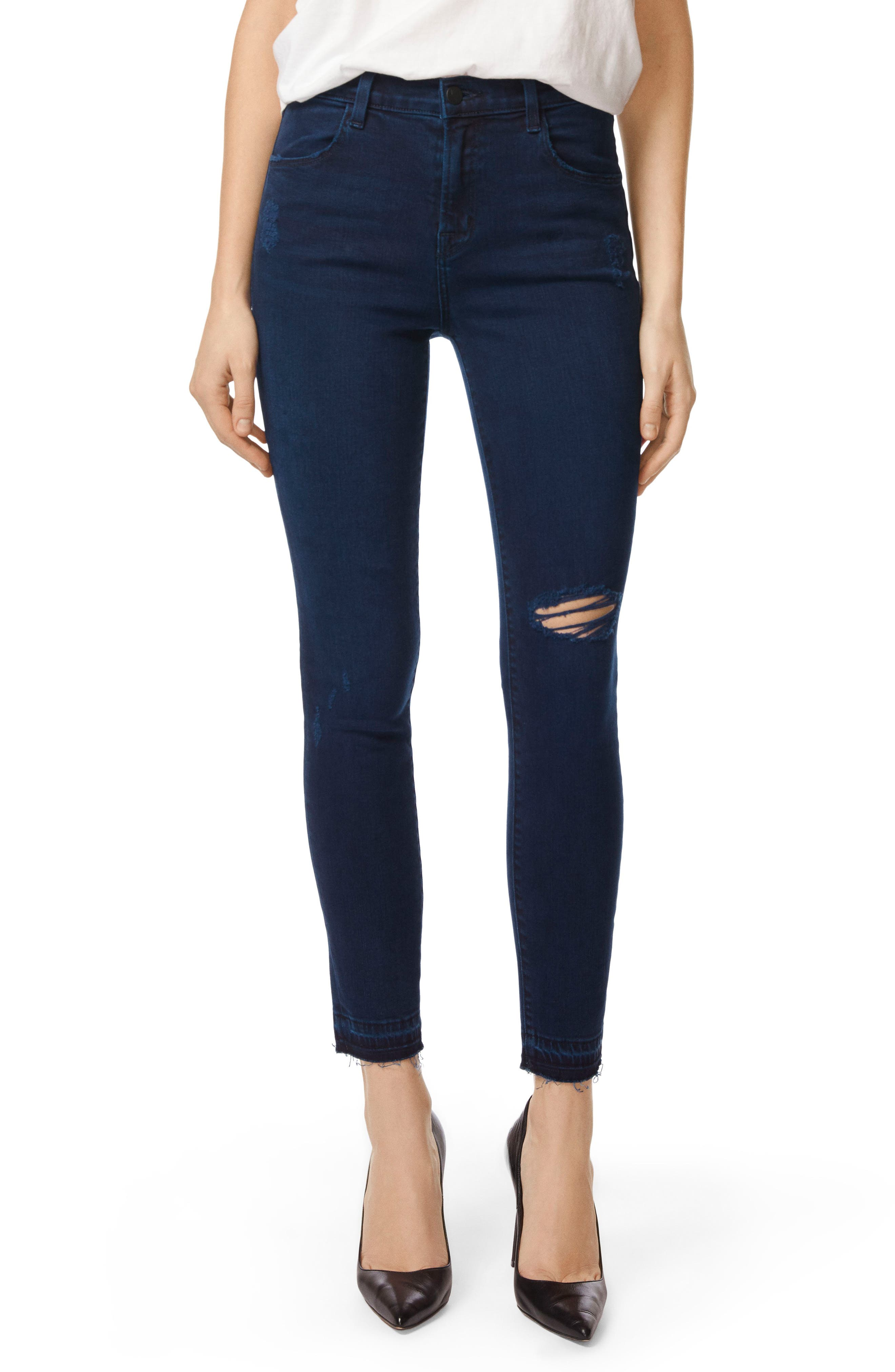 Alana Released Hem High Rise Crop Skinny Jeans,                             Main thumbnail 1, color,                             INVOKE DESTRUCT