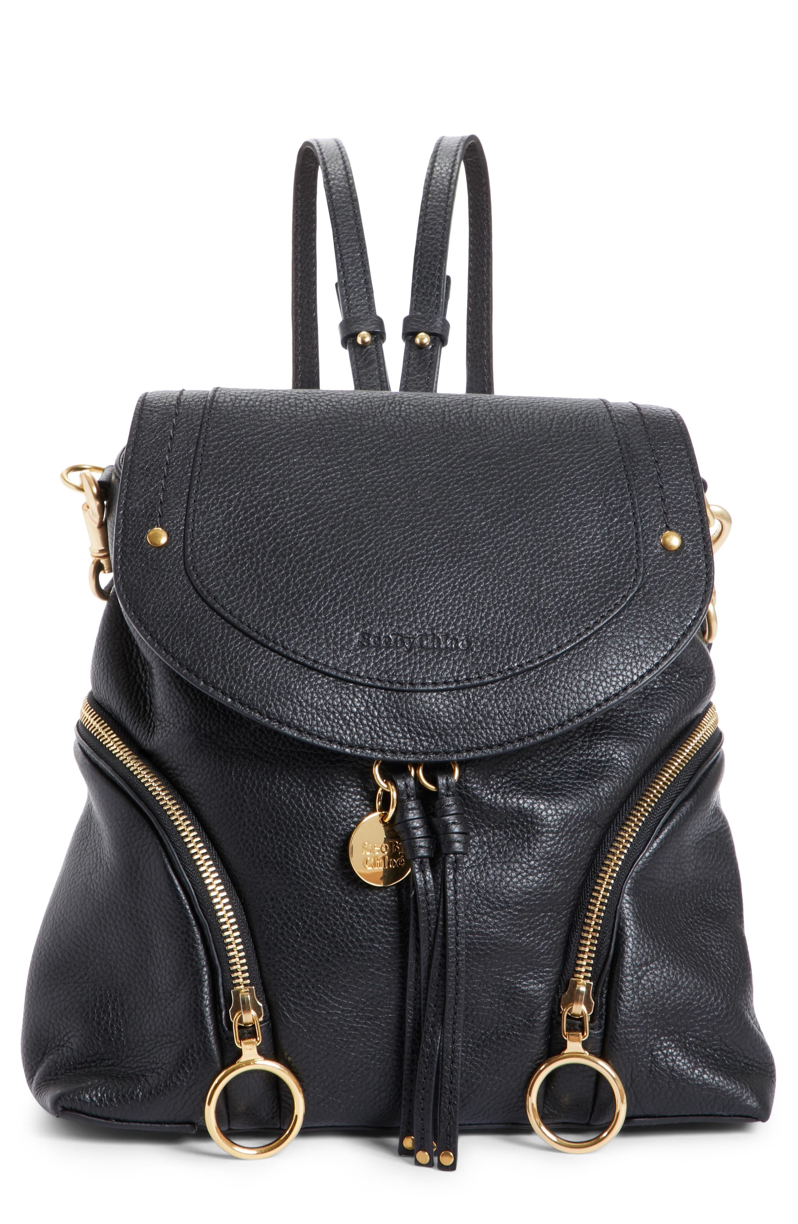 See By Chloe Olga Large Leather Backpack - Black