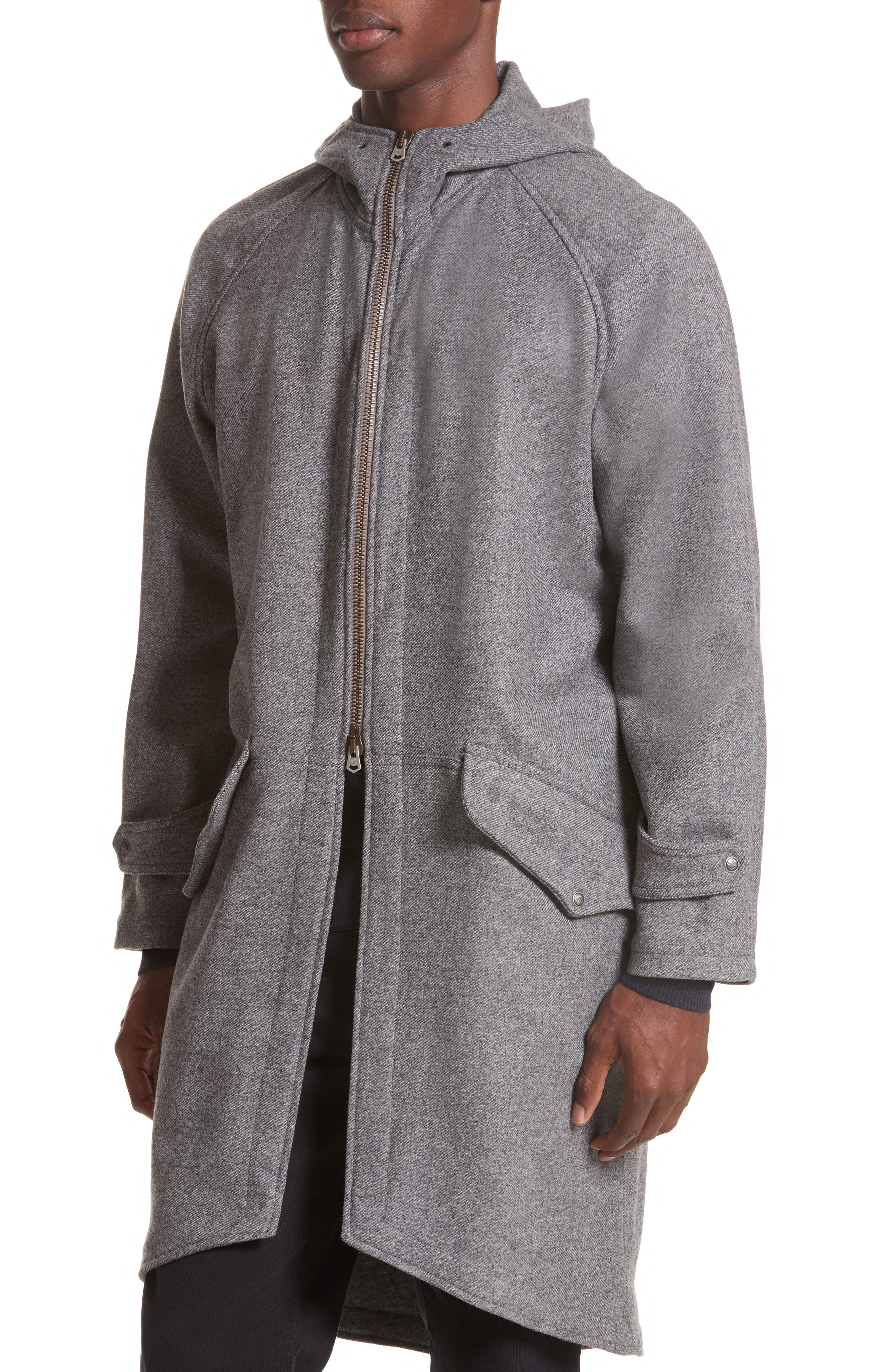 Napoli Wool & Cashmere Flannel Anorak,                             Alternate thumbnail 4, color,                             030