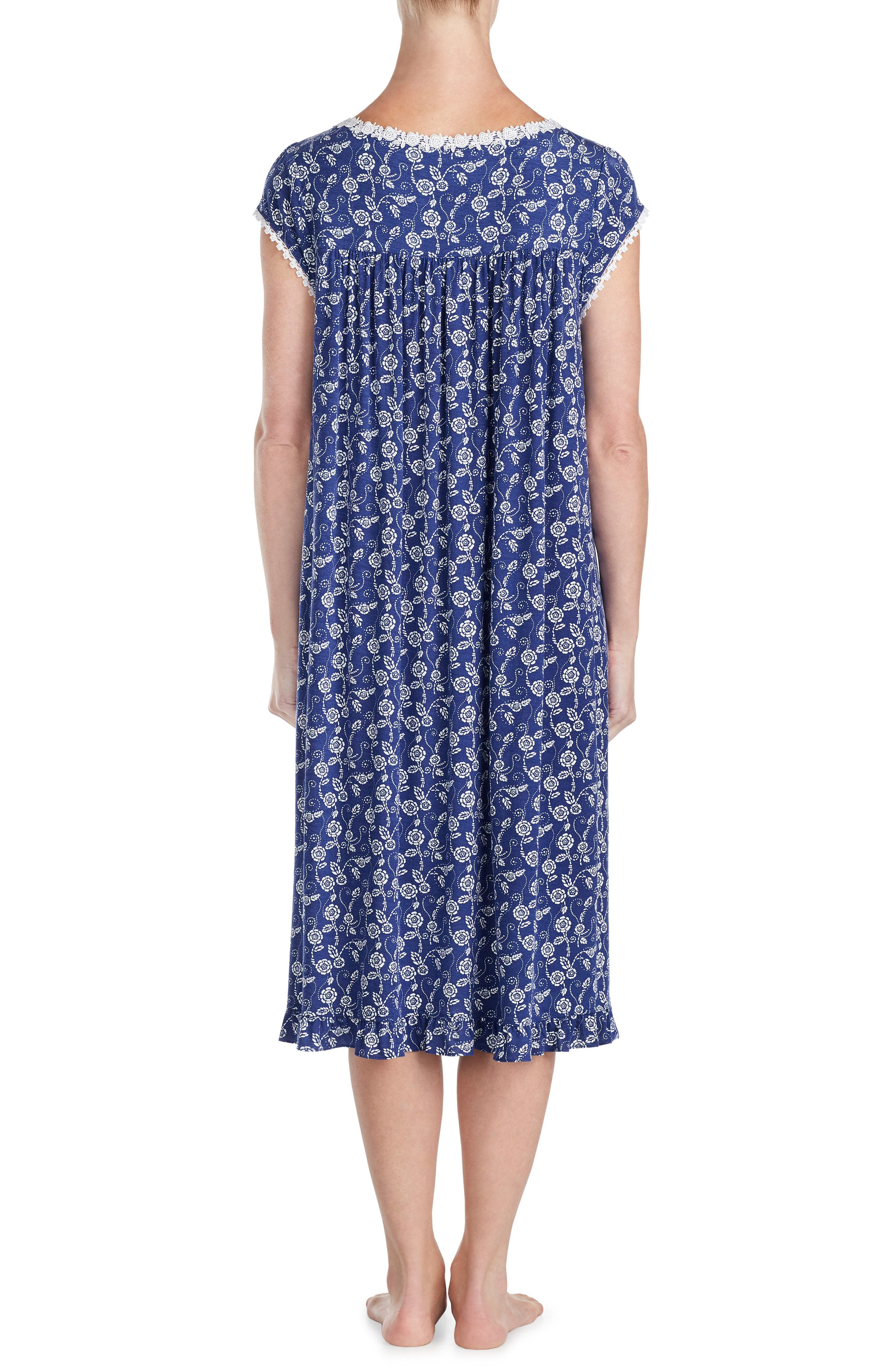Floral Print Nightgown,                             Alternate thumbnail 2, color,                             412