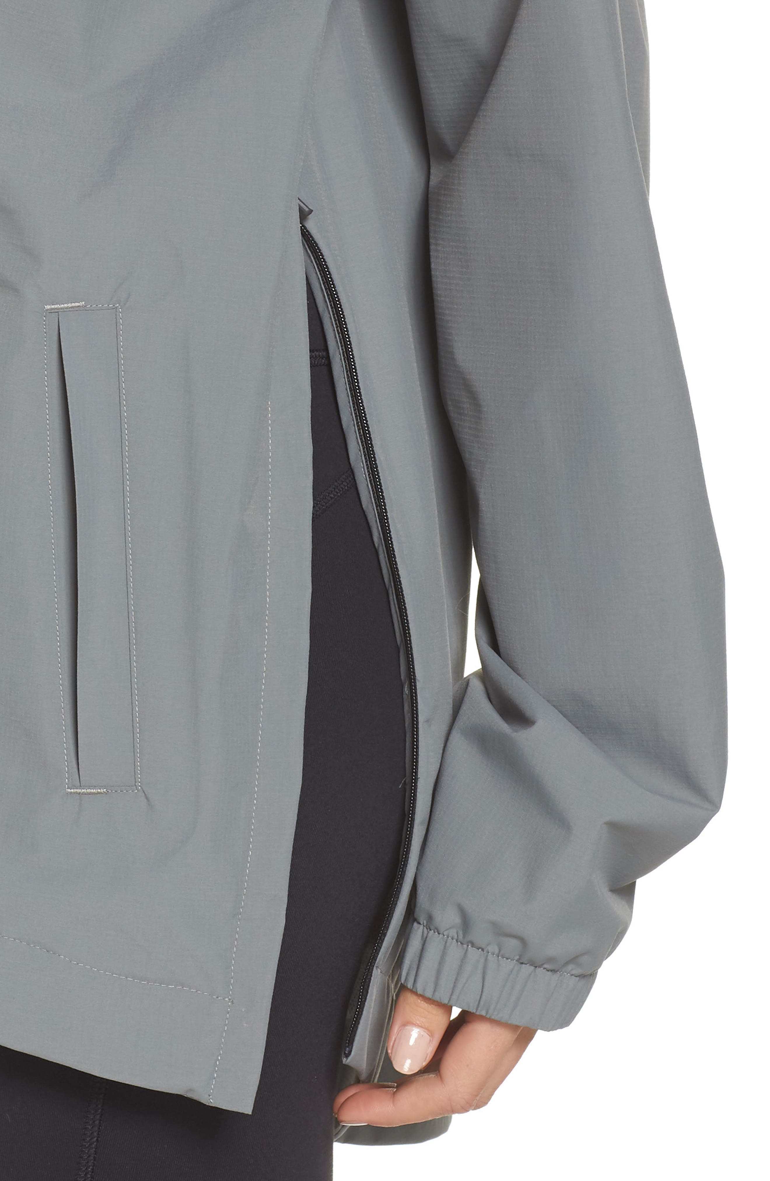 NEW BALANCE,                             247 Luxe Water Resistant Anorak Jacket,                             Alternate thumbnail 4, color,                             GREEN