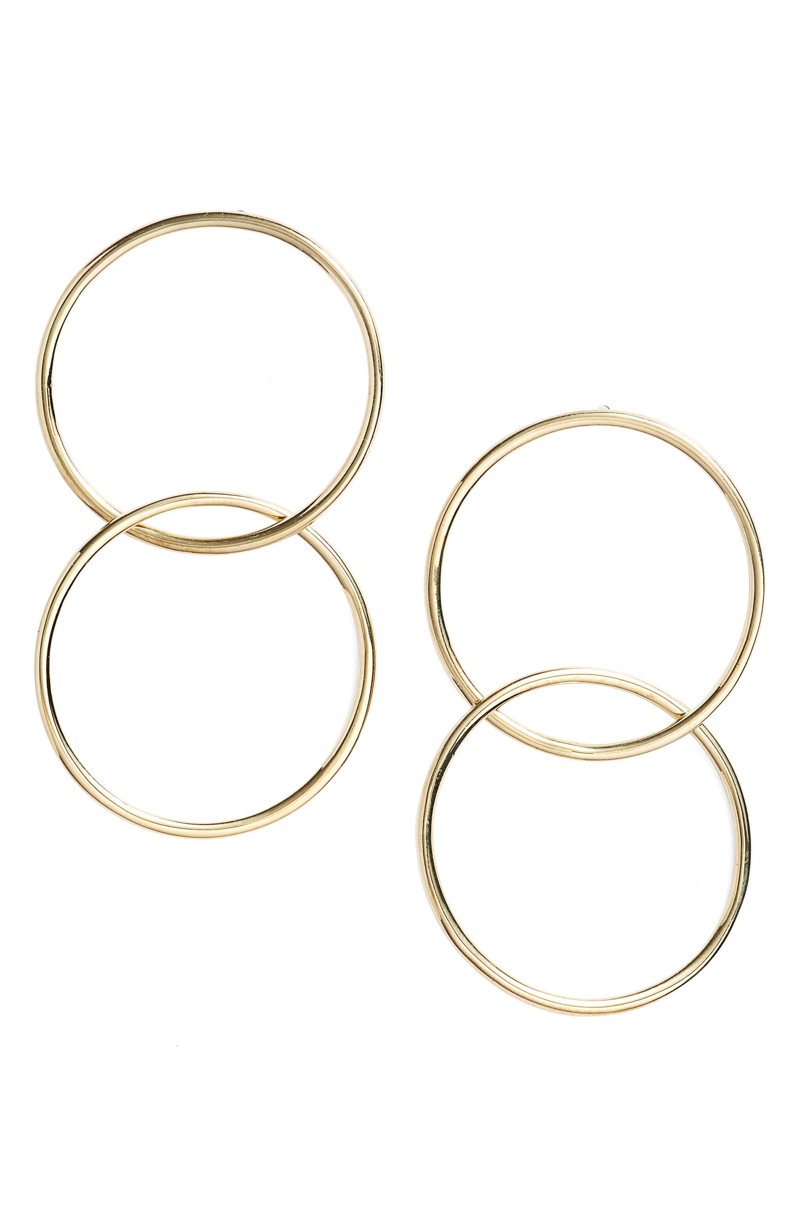 Geo Linked Circle Earrings,                             Main thumbnail 1, color,