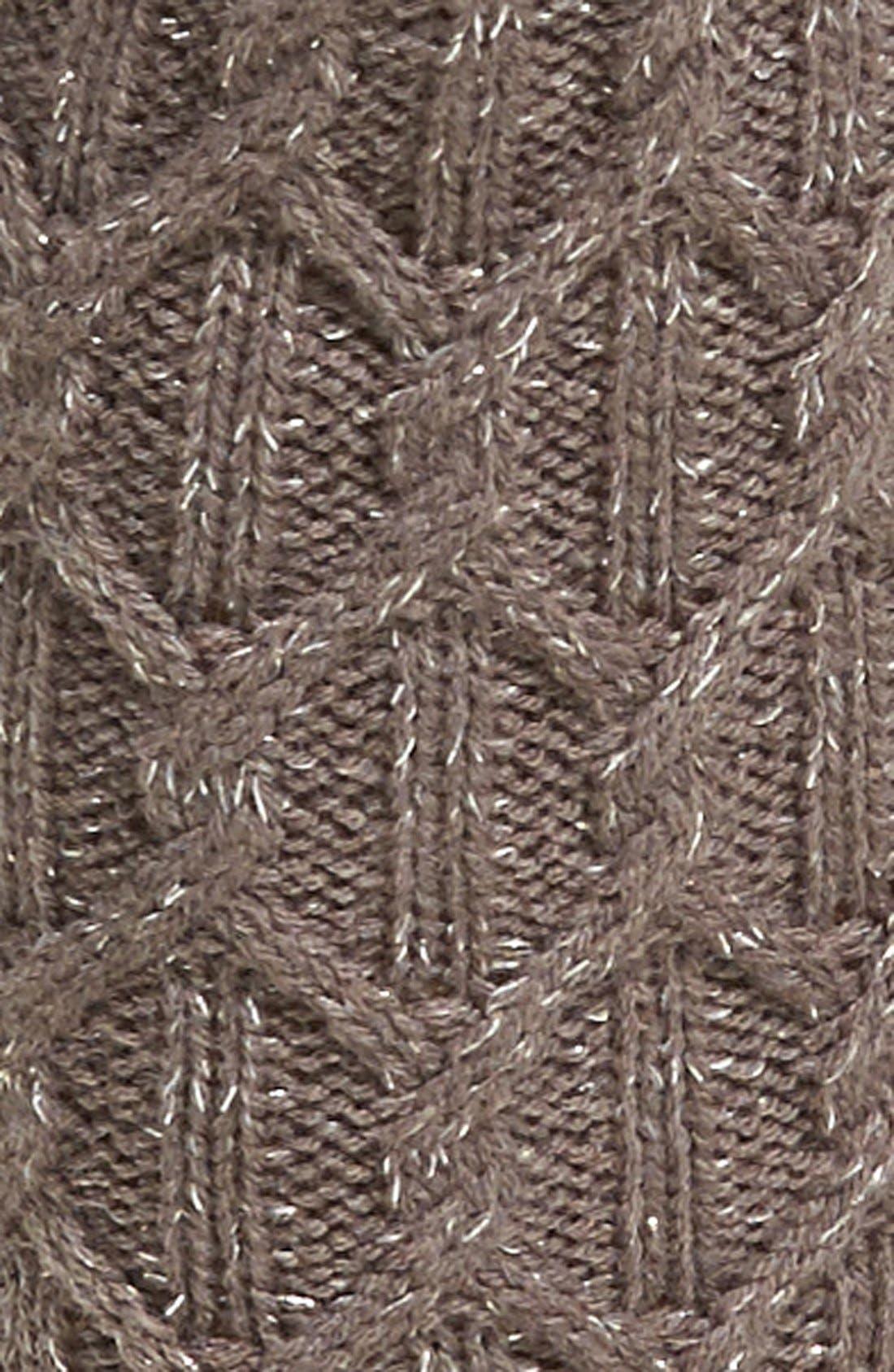 Sparkle Cable Knit Socks,                             Alternate thumbnail 2, color,                             020