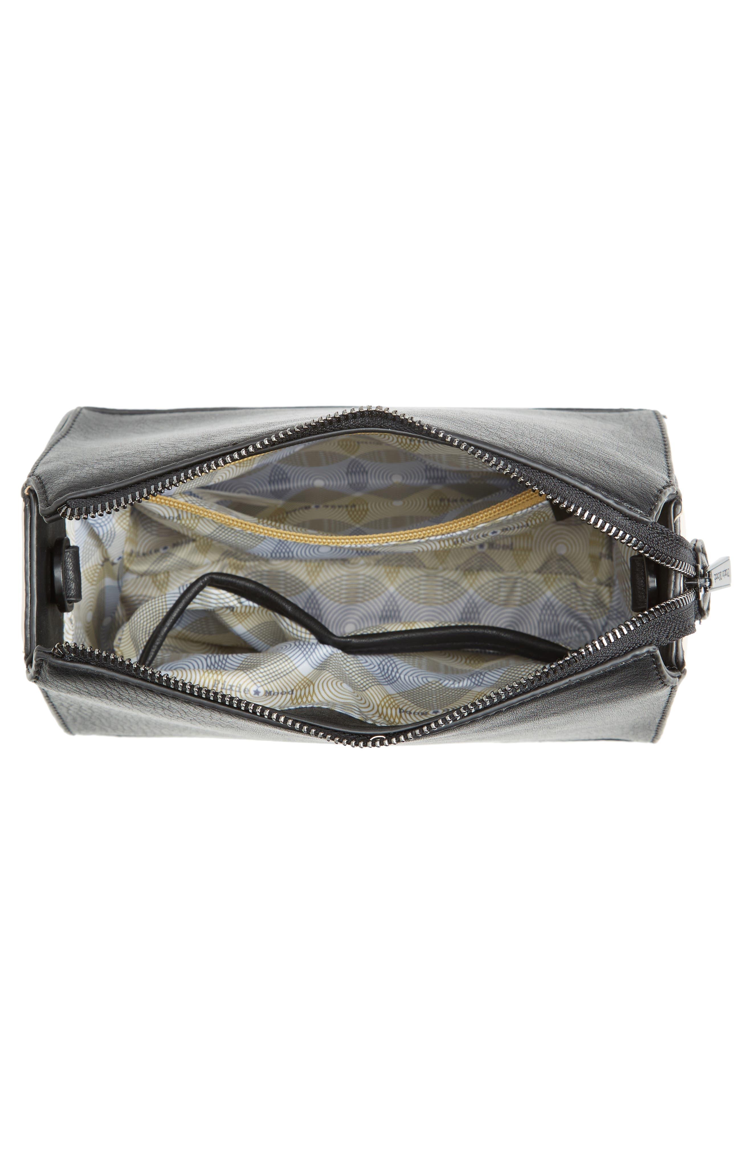Faux Leather Crossbody Bag,                             Alternate thumbnail 4, color,                             001
