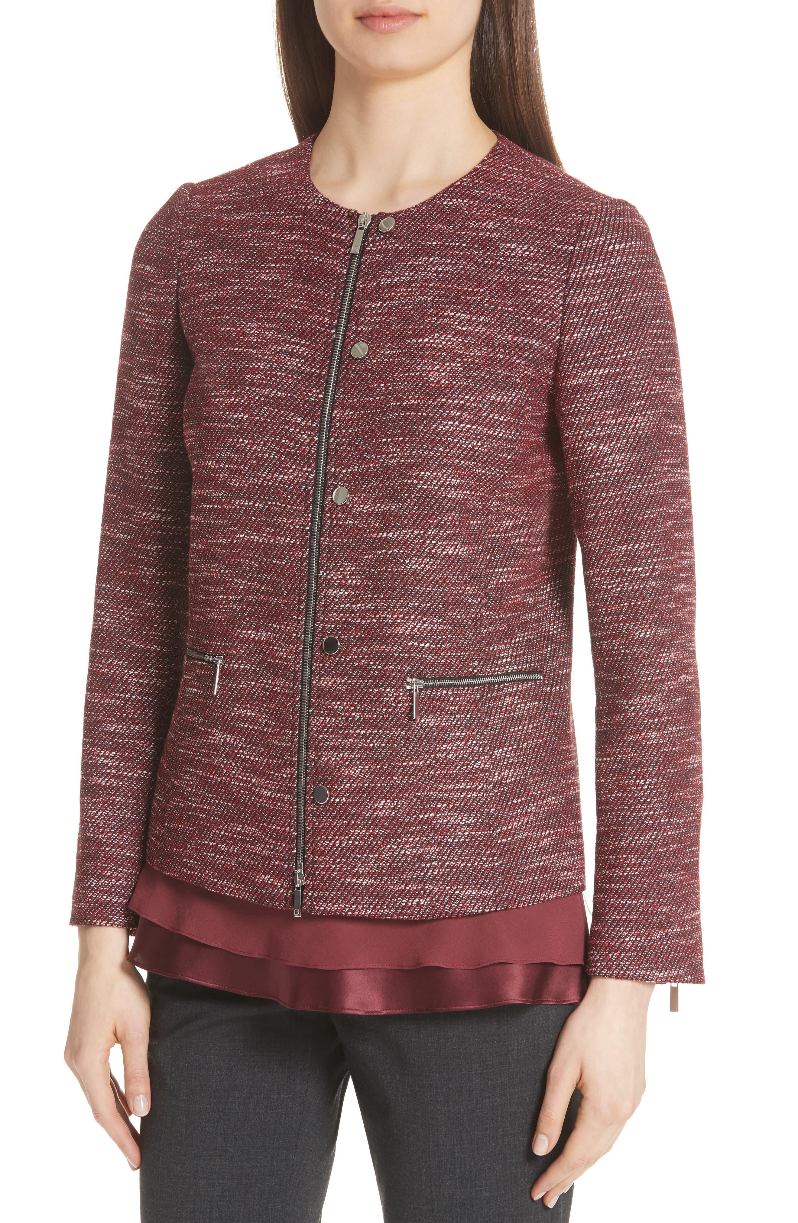 Kerrington Wool Blend Jacket,                             Alternate thumbnail 4, color,                             930