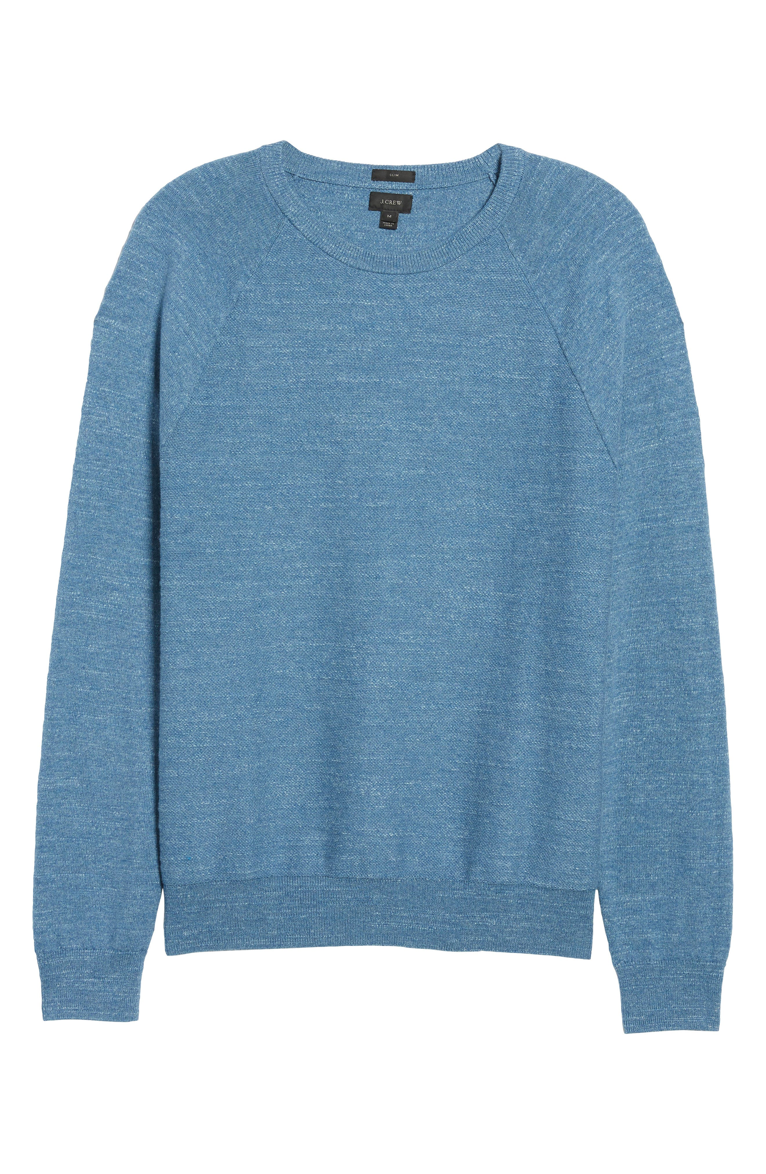 Slim Rugged Cotton Sweater,                             Alternate thumbnail 11, color,