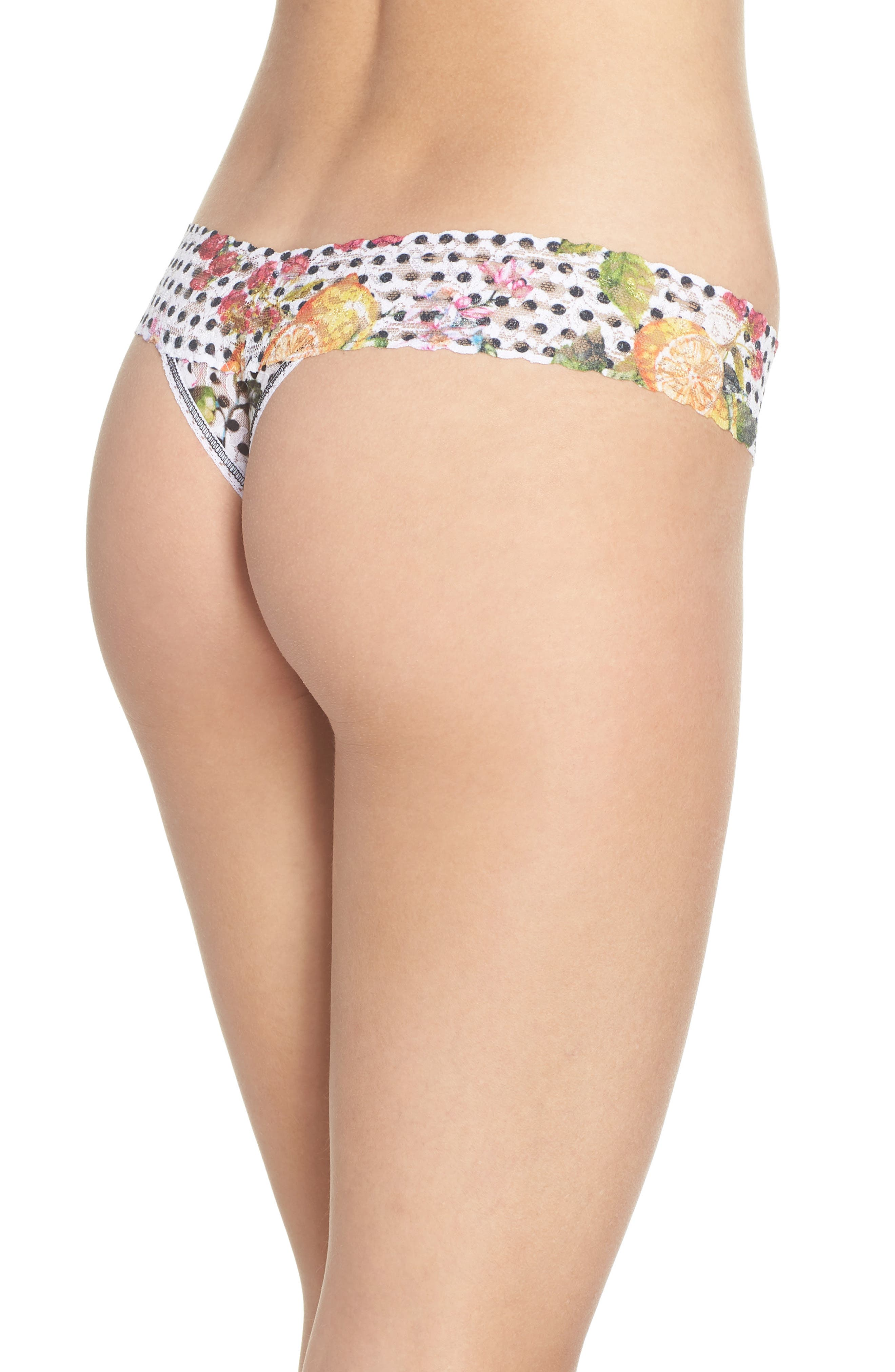 Print Low Rise Thong,                             Alternate thumbnail 24, color,