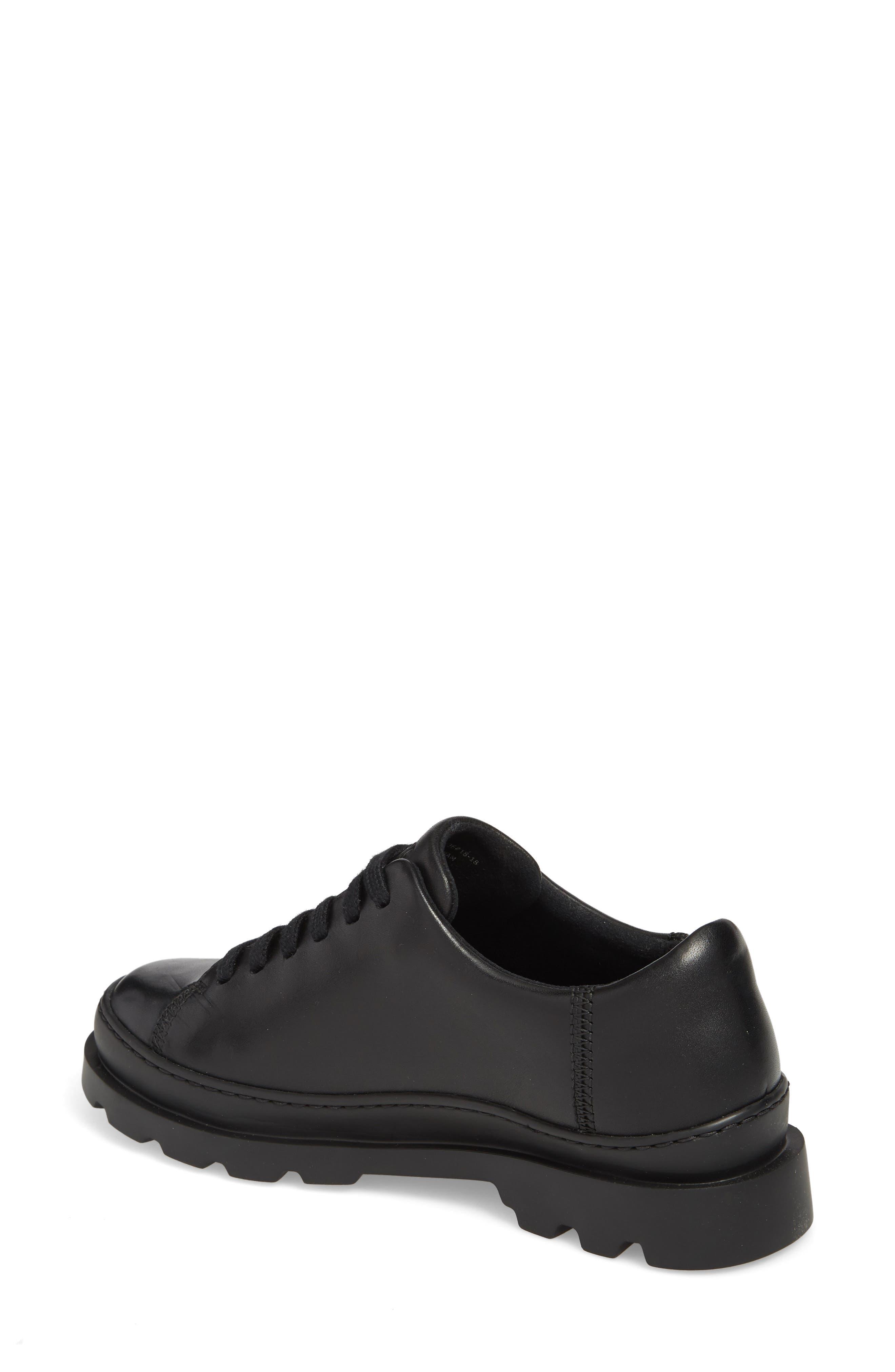 Brutus Sneaker,                             Alternate thumbnail 2, color,                             BLACK LEATHER