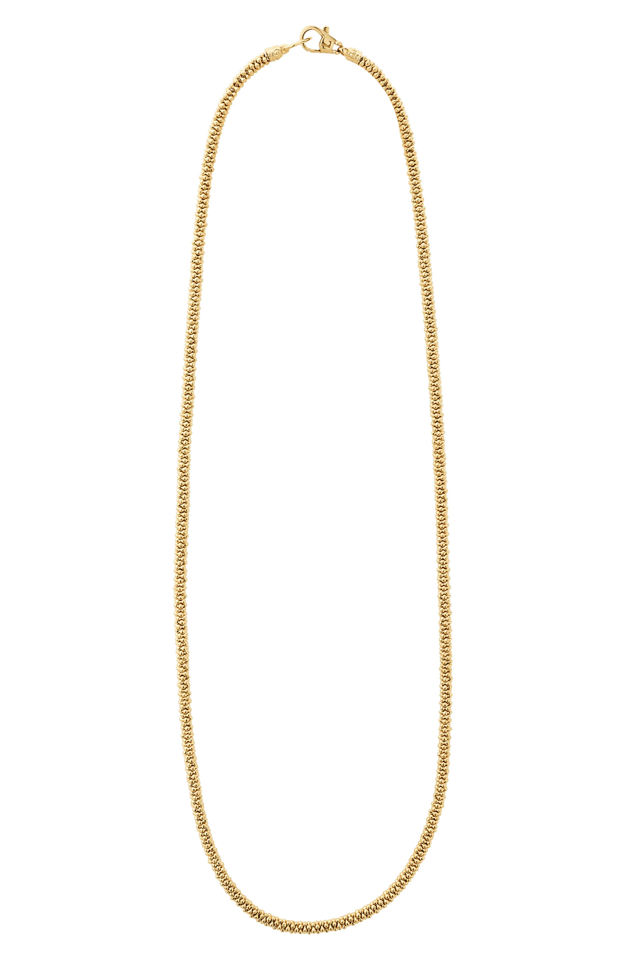 Caviar Gold Rope Necklace,                             Main thumbnail 1, color,                             GOLD