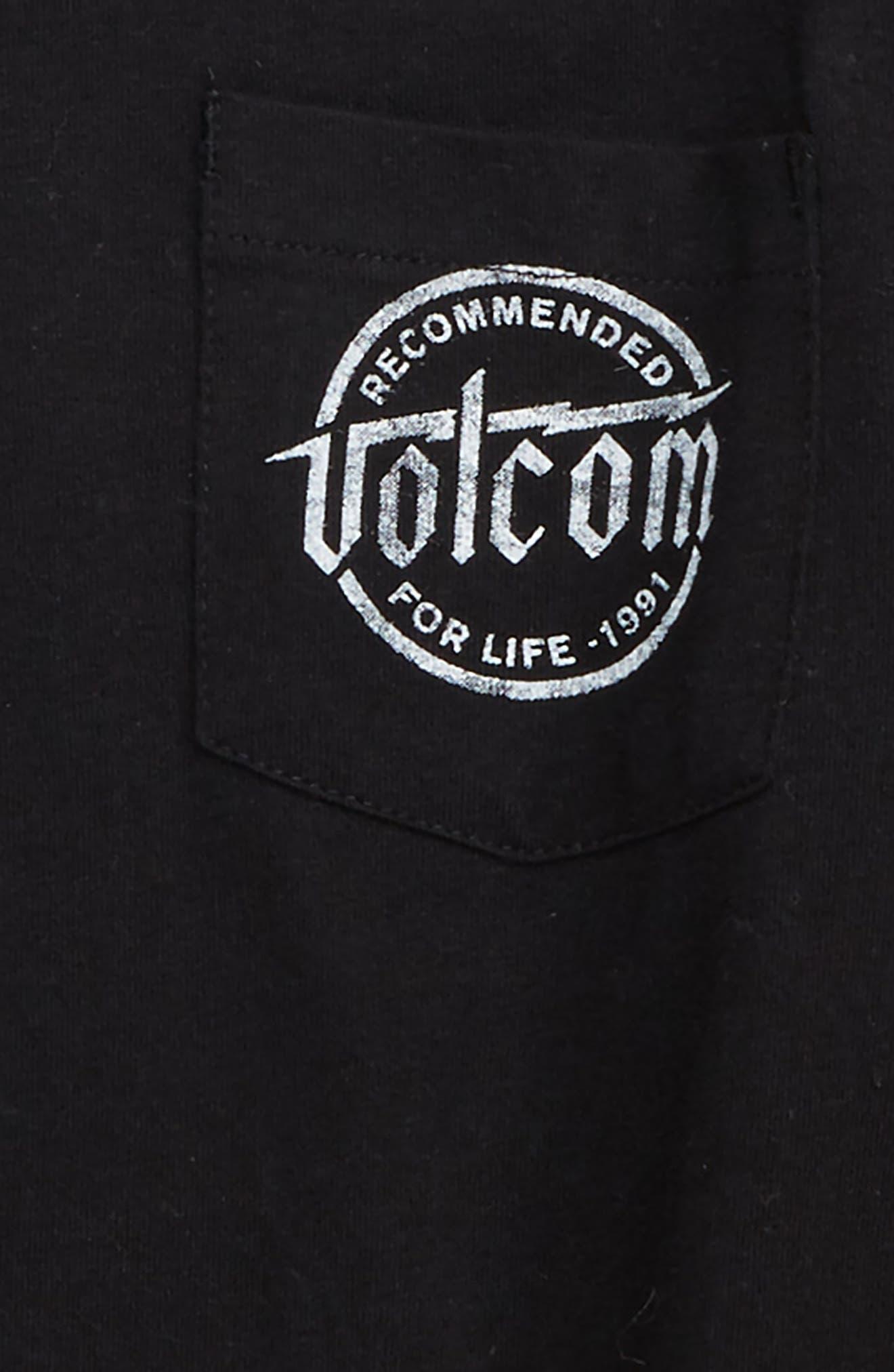 Wilmore Twofer T-Shirt,                             Alternate thumbnail 3, color,                             BLACK