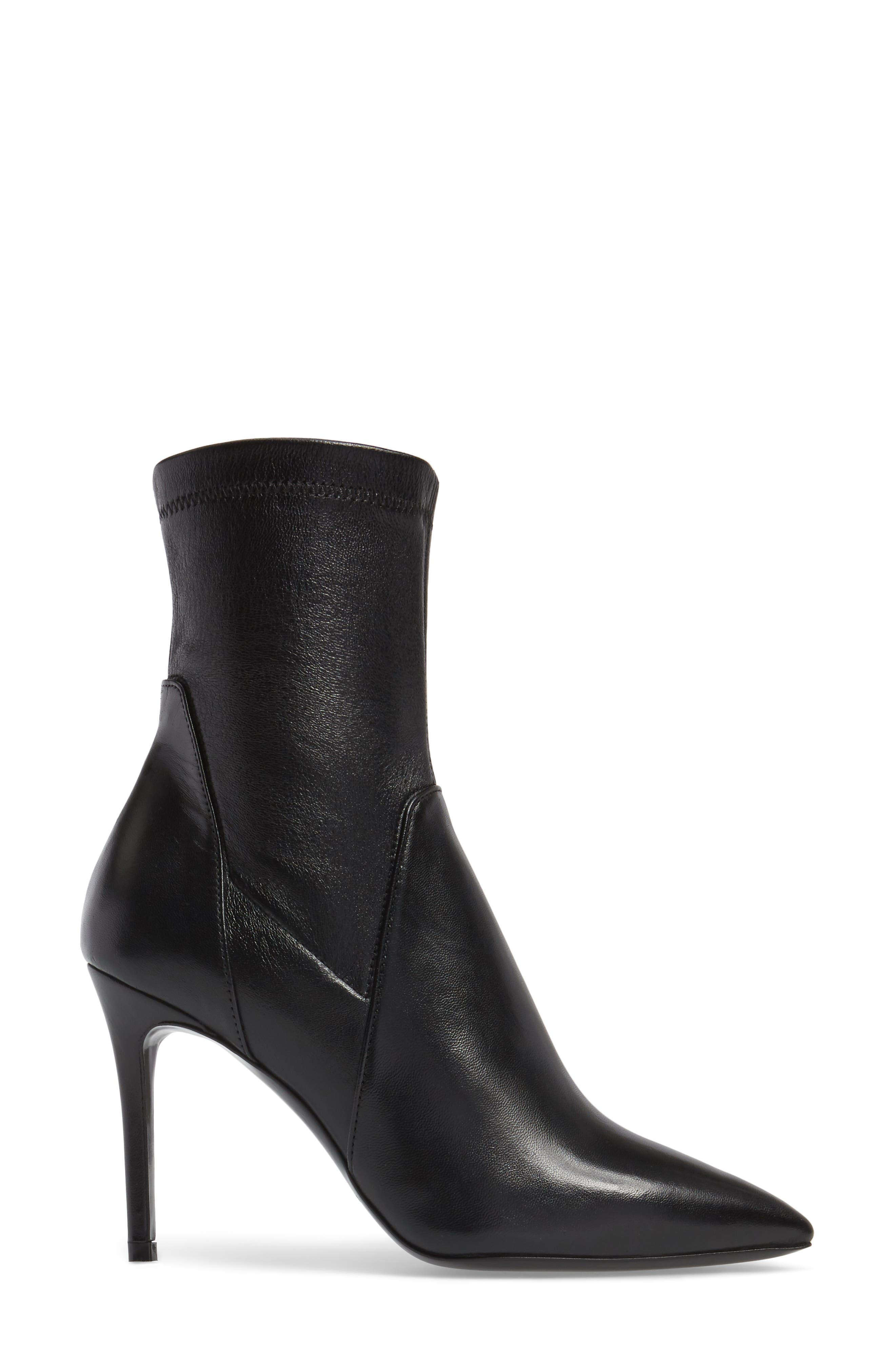 Linden Mid-Calf Pointy-Toe Boot,                             Alternate thumbnail 3, color,                             001