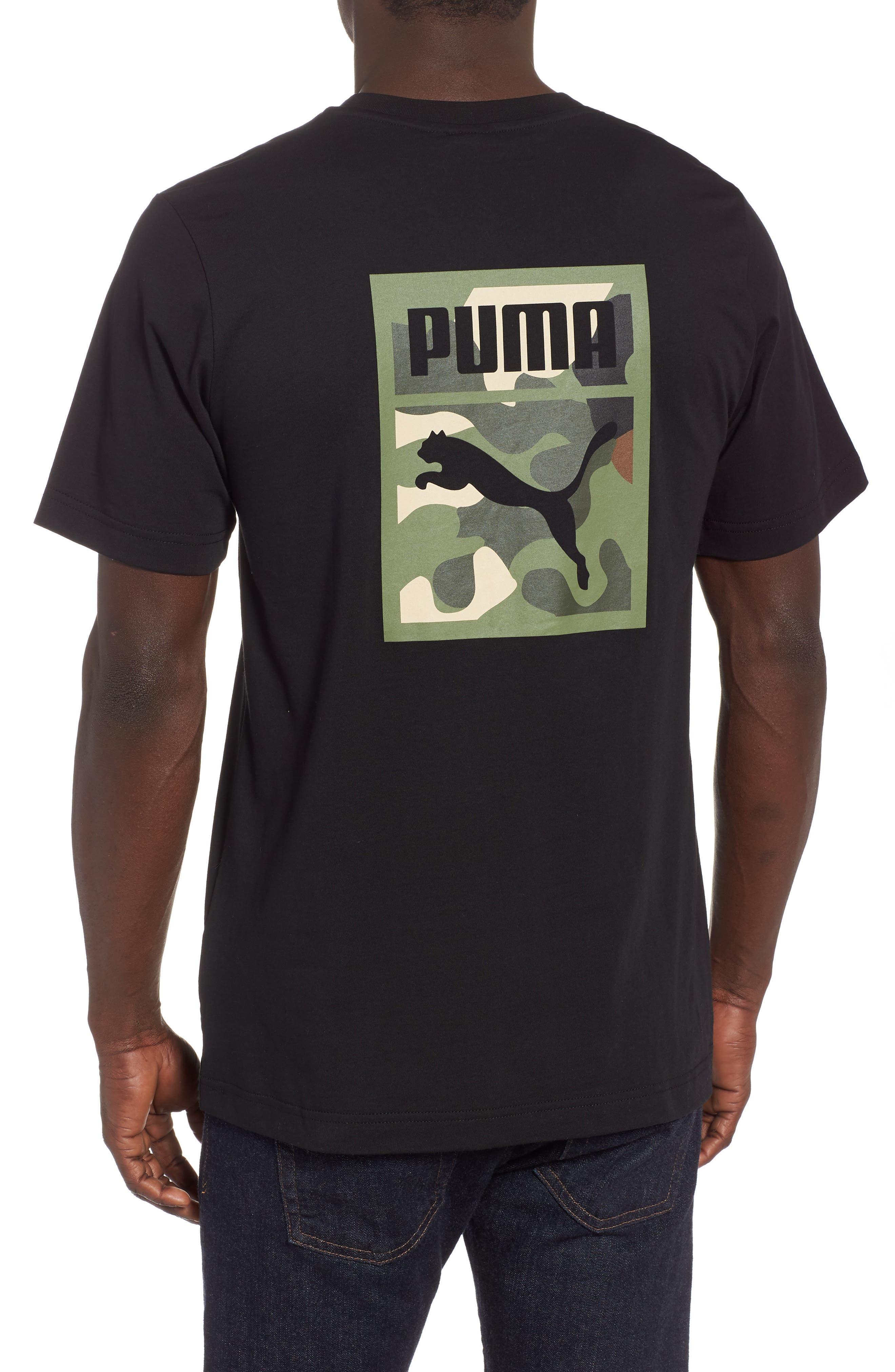 Wild Pack Logo Graphic T-Shirt,                             Alternate thumbnail 2, color,                             PUMA BLACK