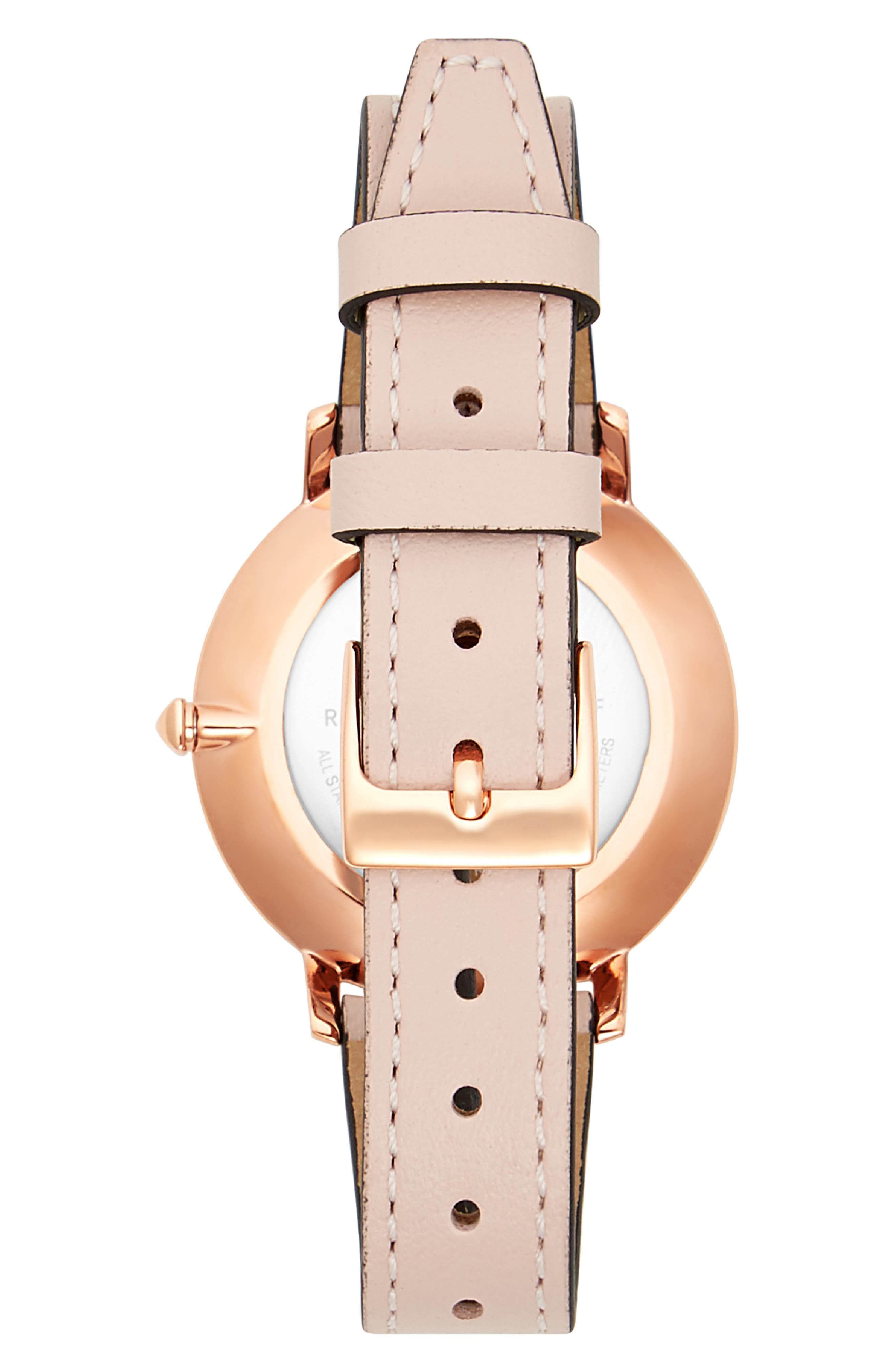 Major Leather Strap Watch, 35mm,                             Alternate thumbnail 2, color,                             BLUSH/ ROSE GOLD