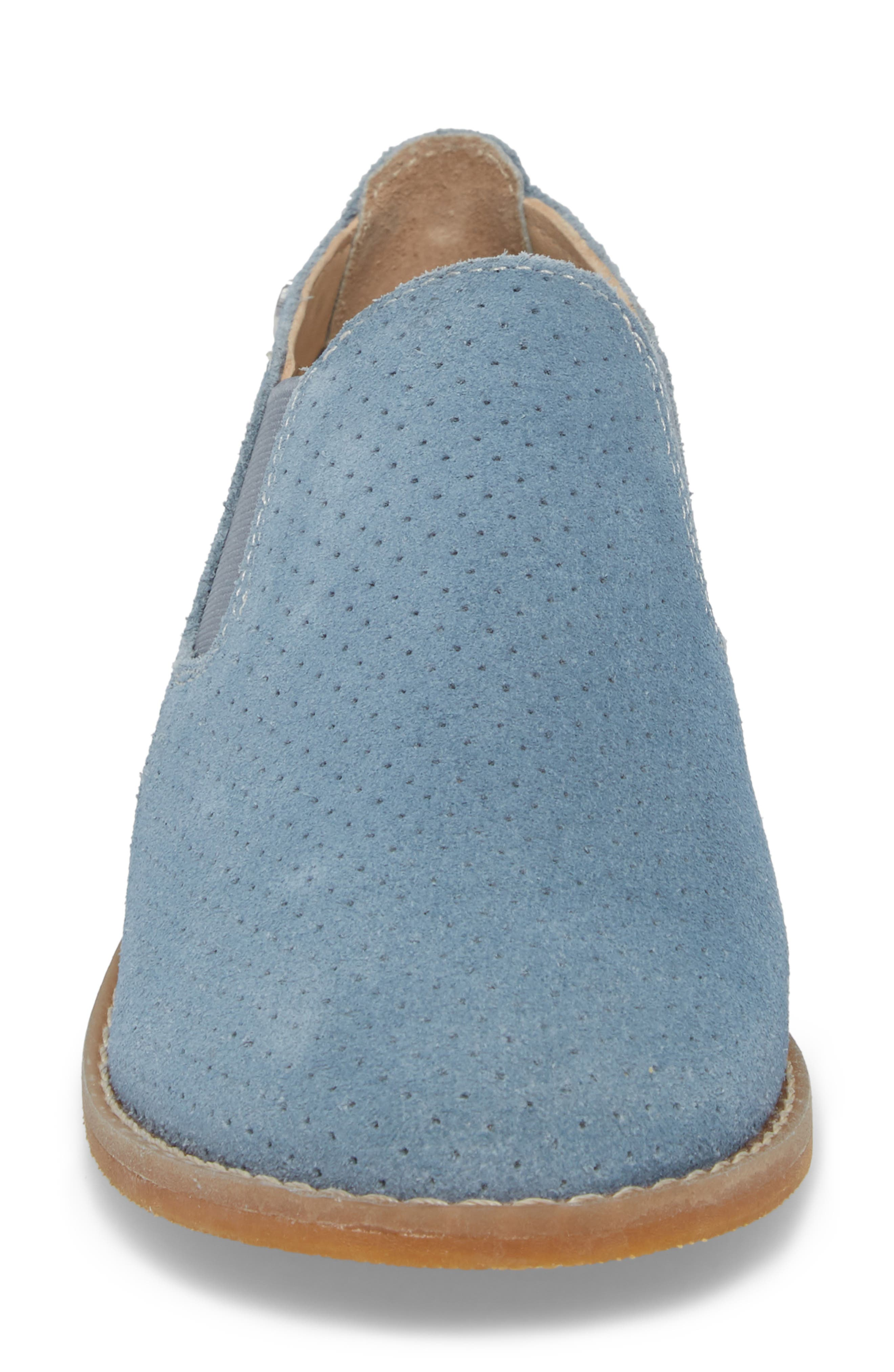 Hush Puppies Analise Clever Slip-On,                             Alternate thumbnail 4, color,                             VINTAGE INDIGO SUEDE