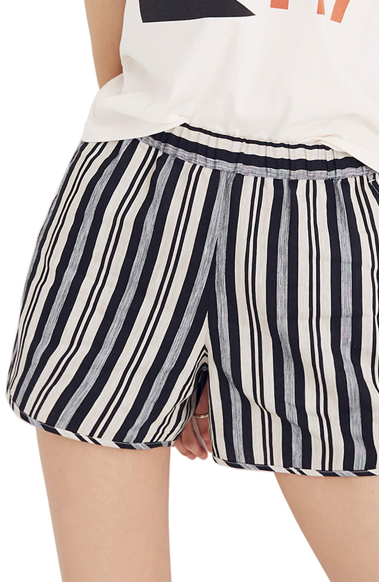 Stripe Pull-On Shorts,                             Main thumbnail 1, color,                             STONE