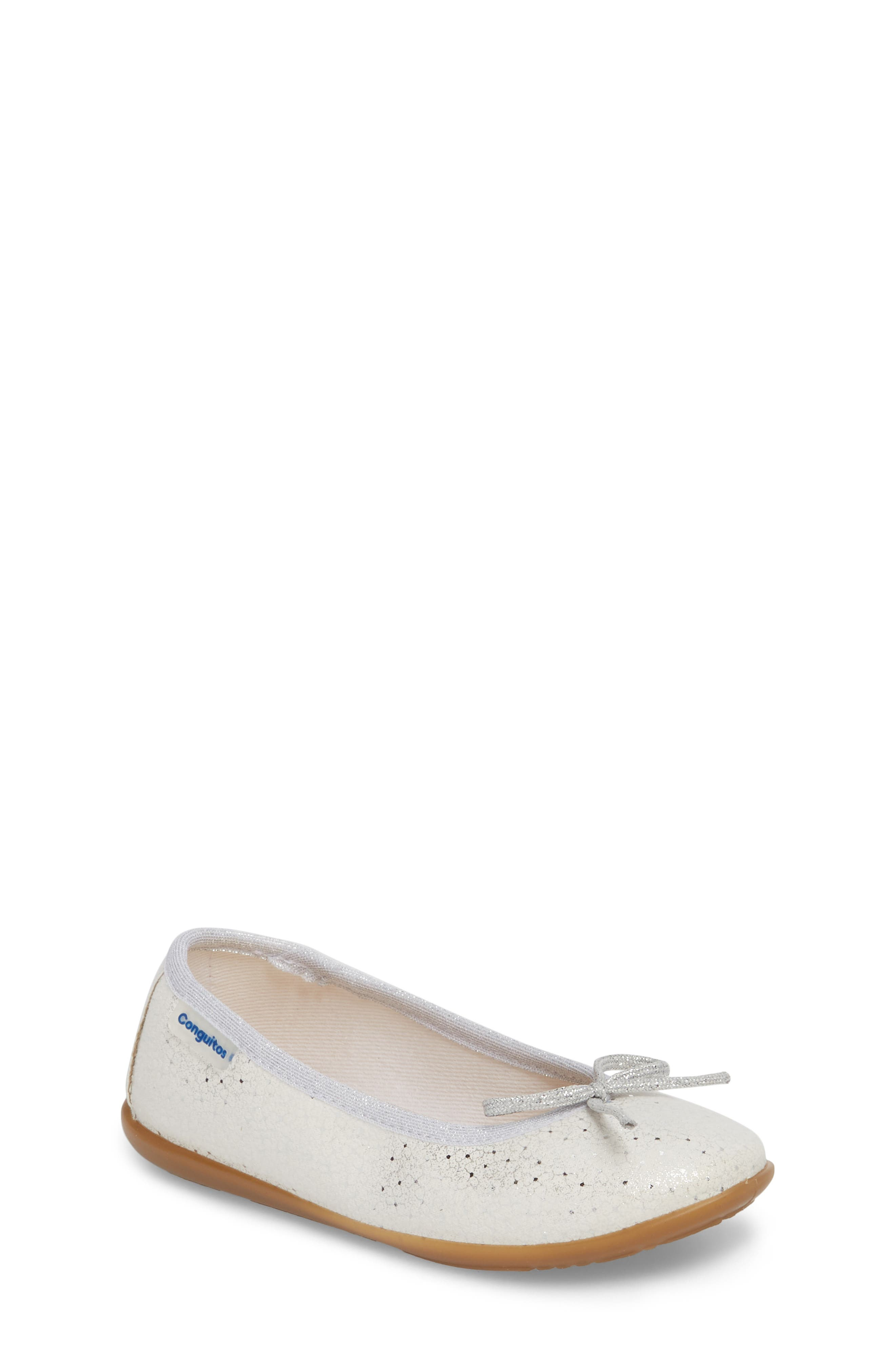Aire Metallic Ballet Flat,                         Main,                         color, SILVER