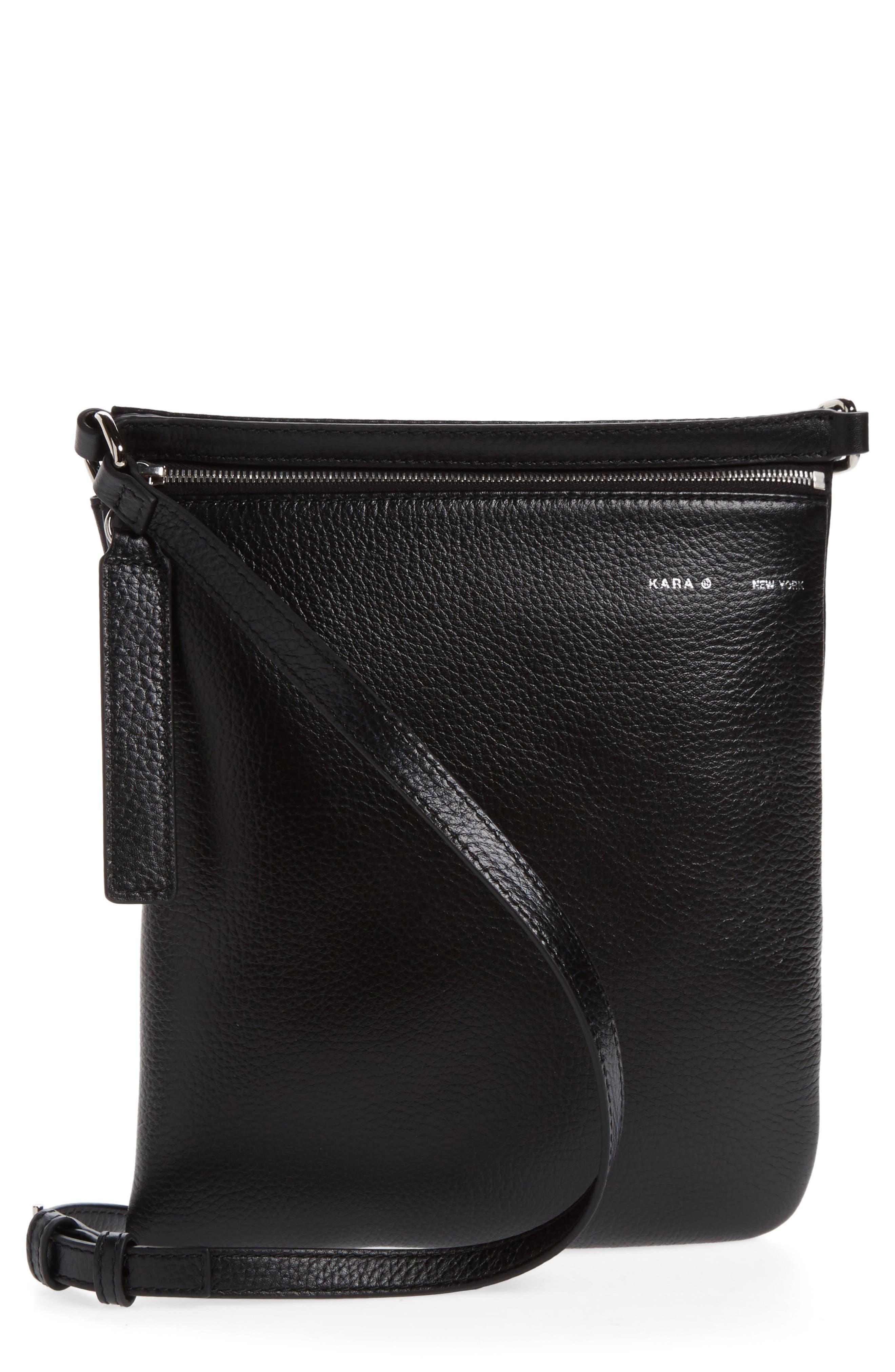 Belt Bag,                             Main thumbnail 1, color,                             BLACK LEATHER