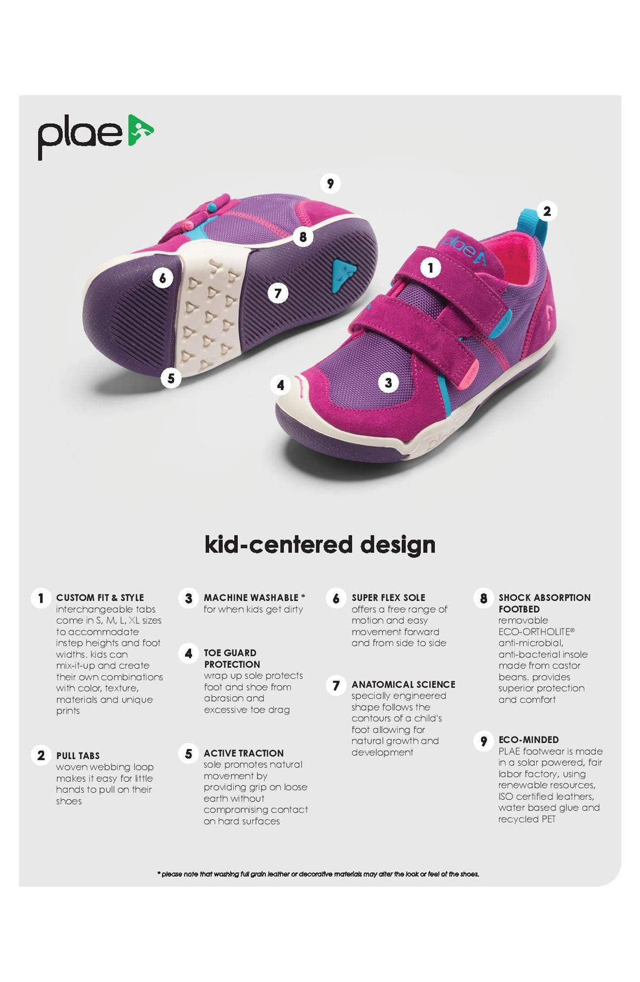 'Ty' Customizable Sneaker,                             Alternate thumbnail 6, color,                             FUCHSIA/ PURPLE