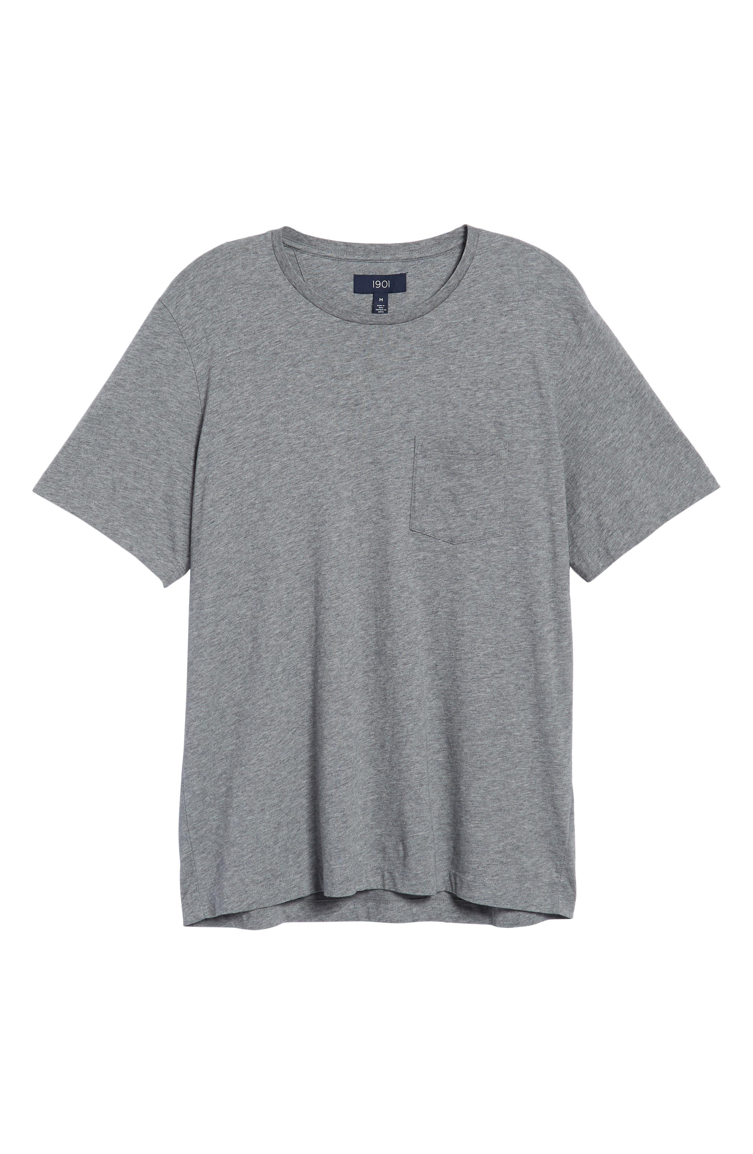 Brushed Pima Cotton T-Shirt,                             Alternate thumbnail 6, color,                             030