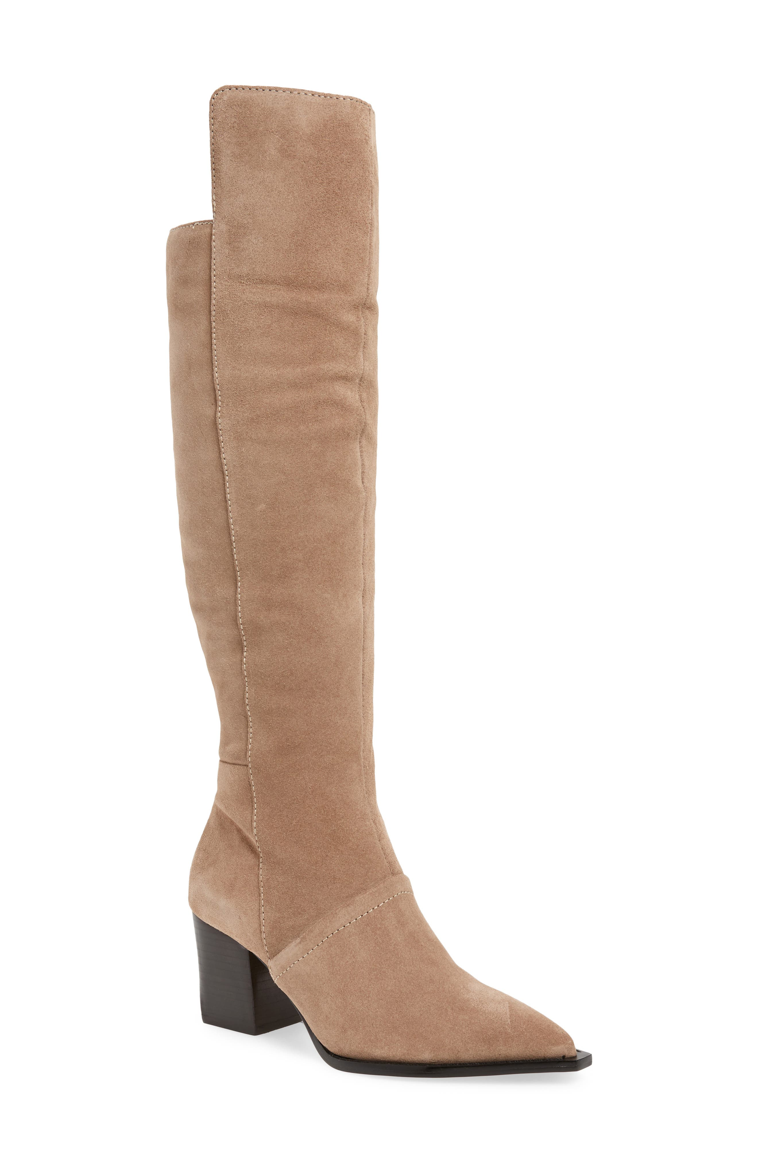LUST FOR LIFE Tania Knee High Boot in Taupe Leather