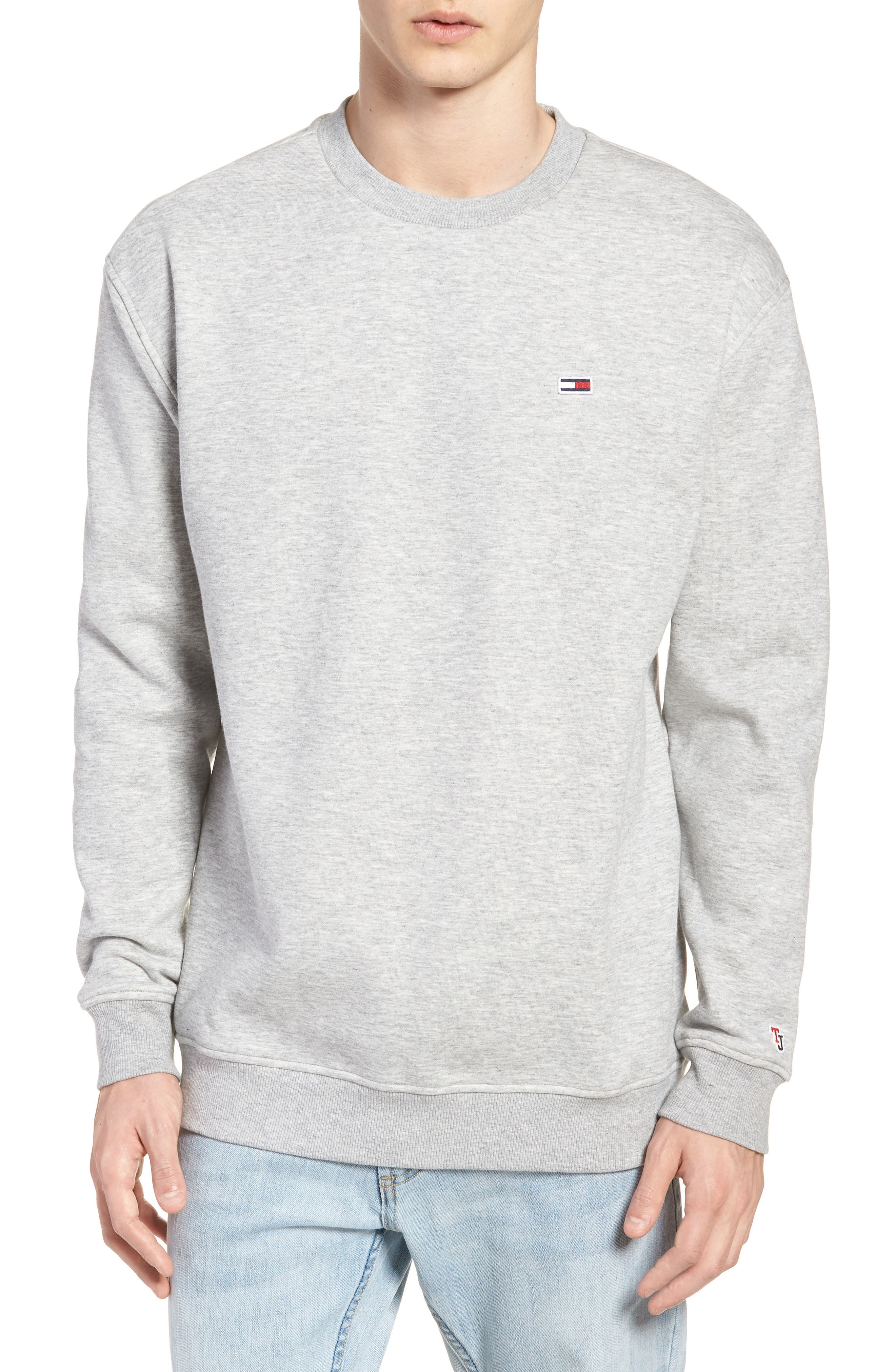 Tommy Classics Crewneck Sweatshirt,                         Main,                         color, LIGHT GREY HEATHER