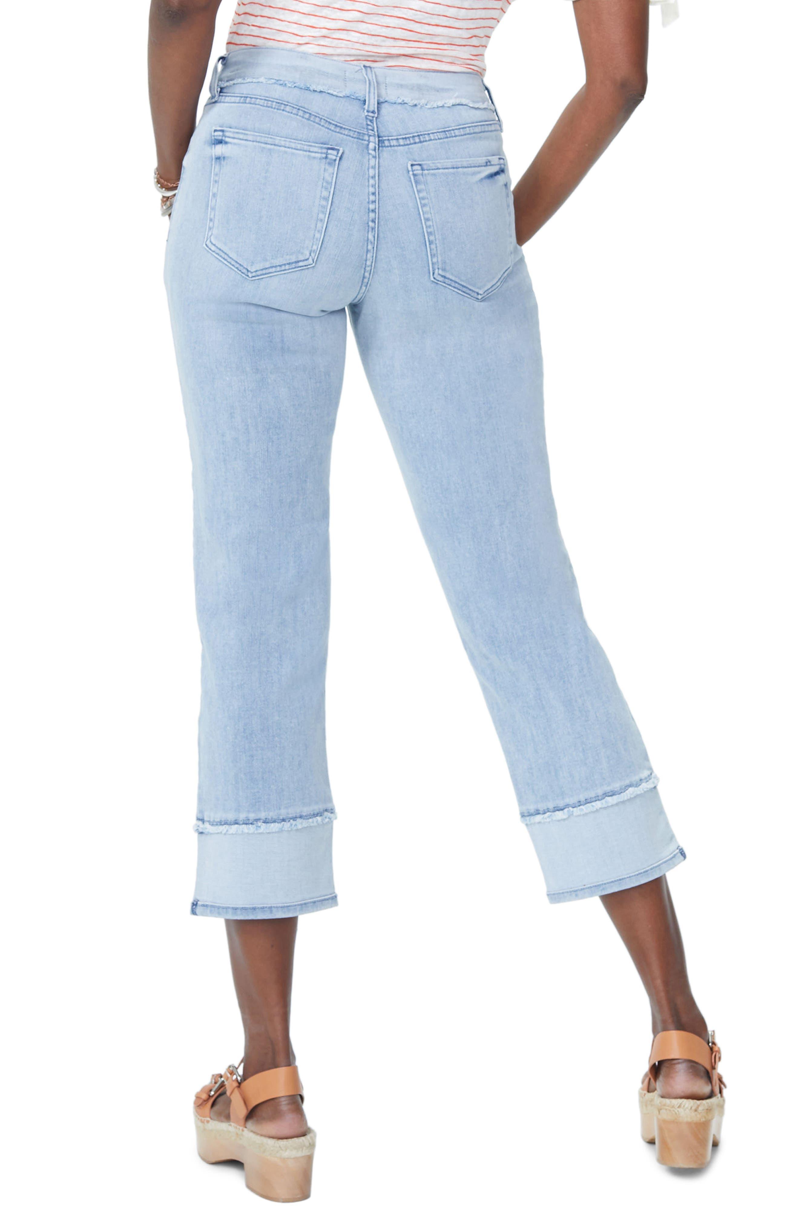 NYDJ,                             Jenna High Waist Straight Leg Reverse Fray Ankle Jeans,                             Alternate thumbnail 2, color,                             421