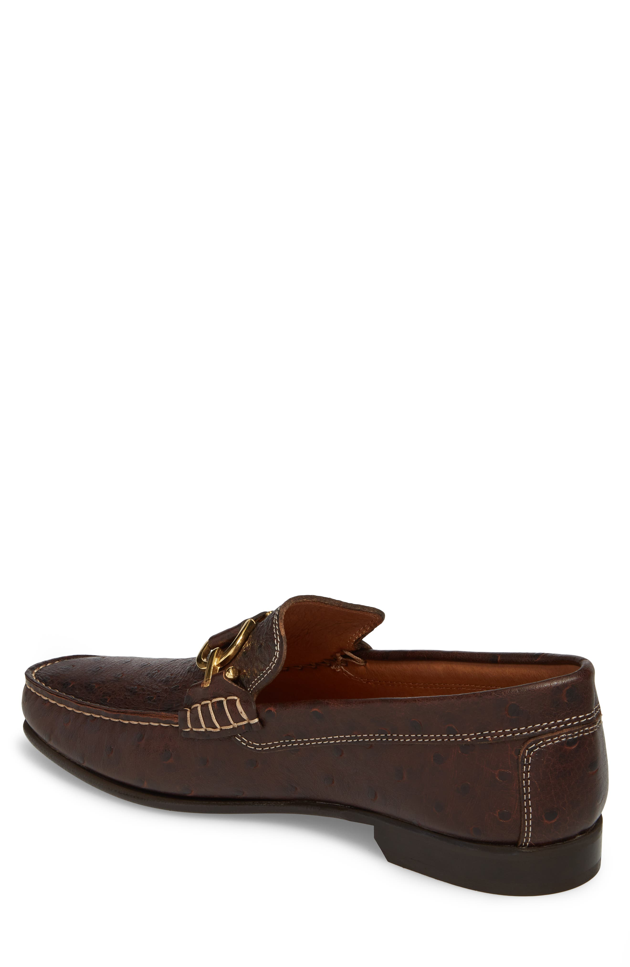 Dacio Square-Toe Loafer,                             Alternate thumbnail 2, color,                             BROWN LEATHER