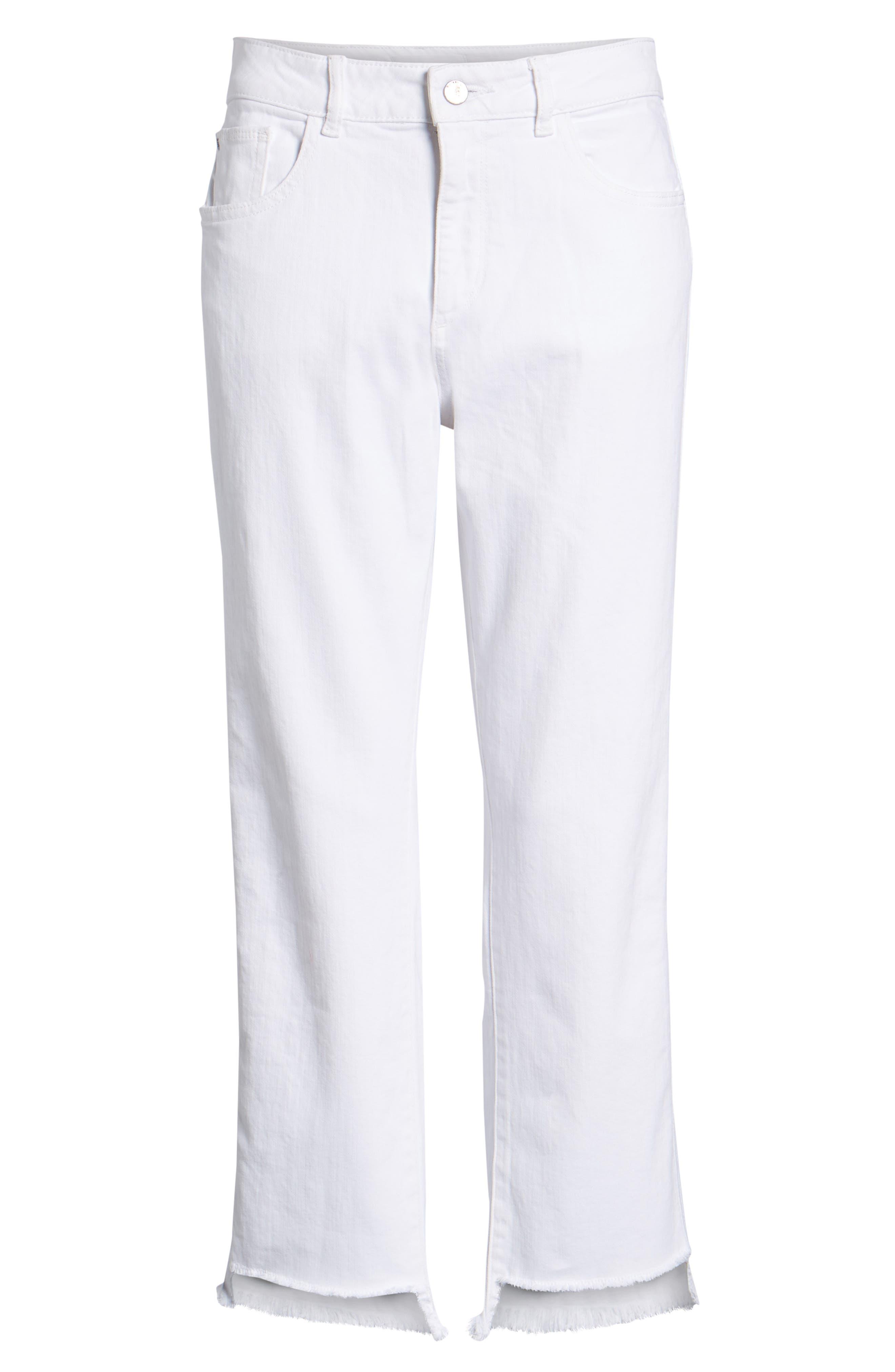Patti High Waist Crop Straight Leg Jeans,                             Alternate thumbnail 7, color,