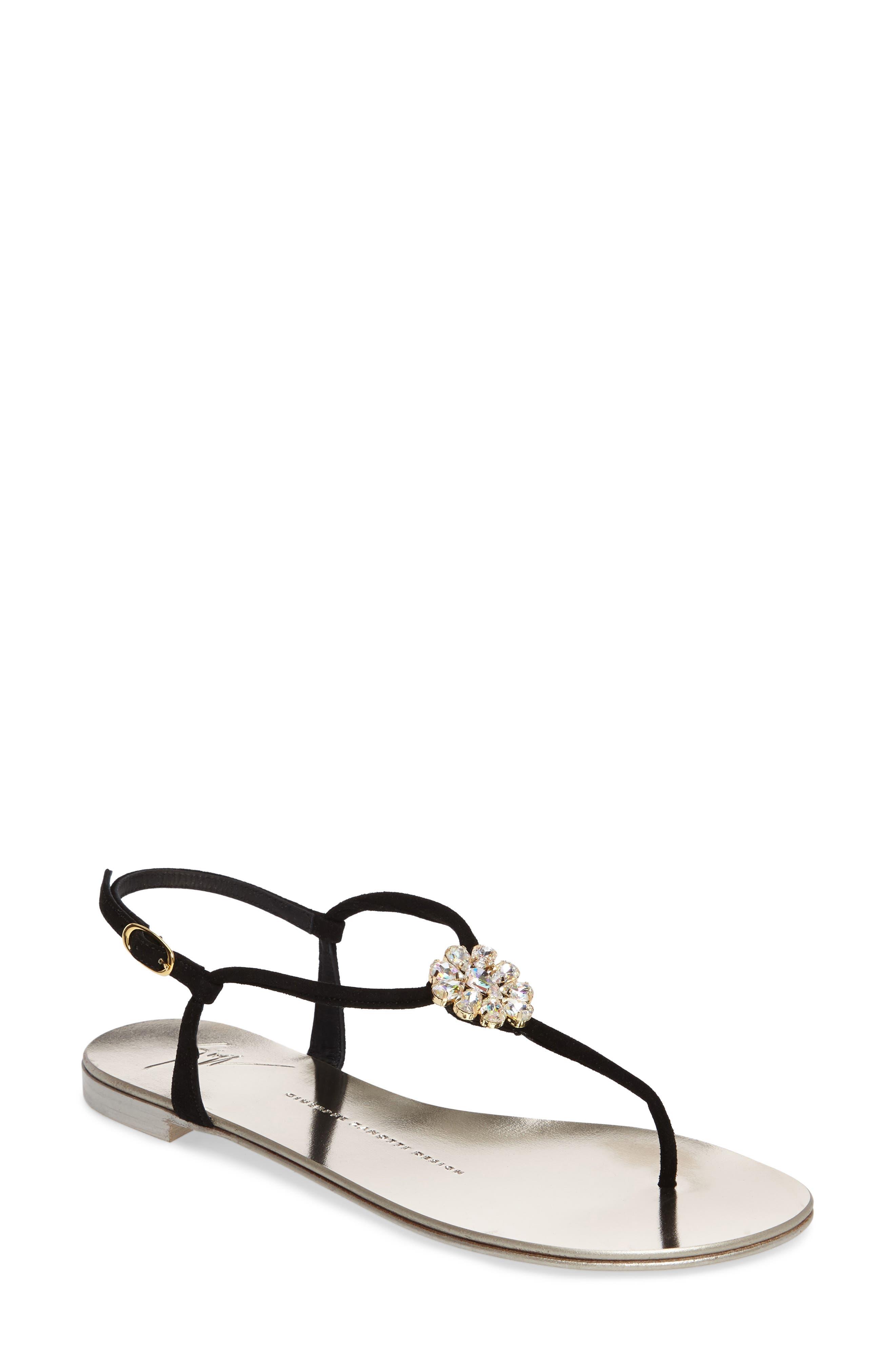 Crystal Sandal,                         Main,                         color, 001