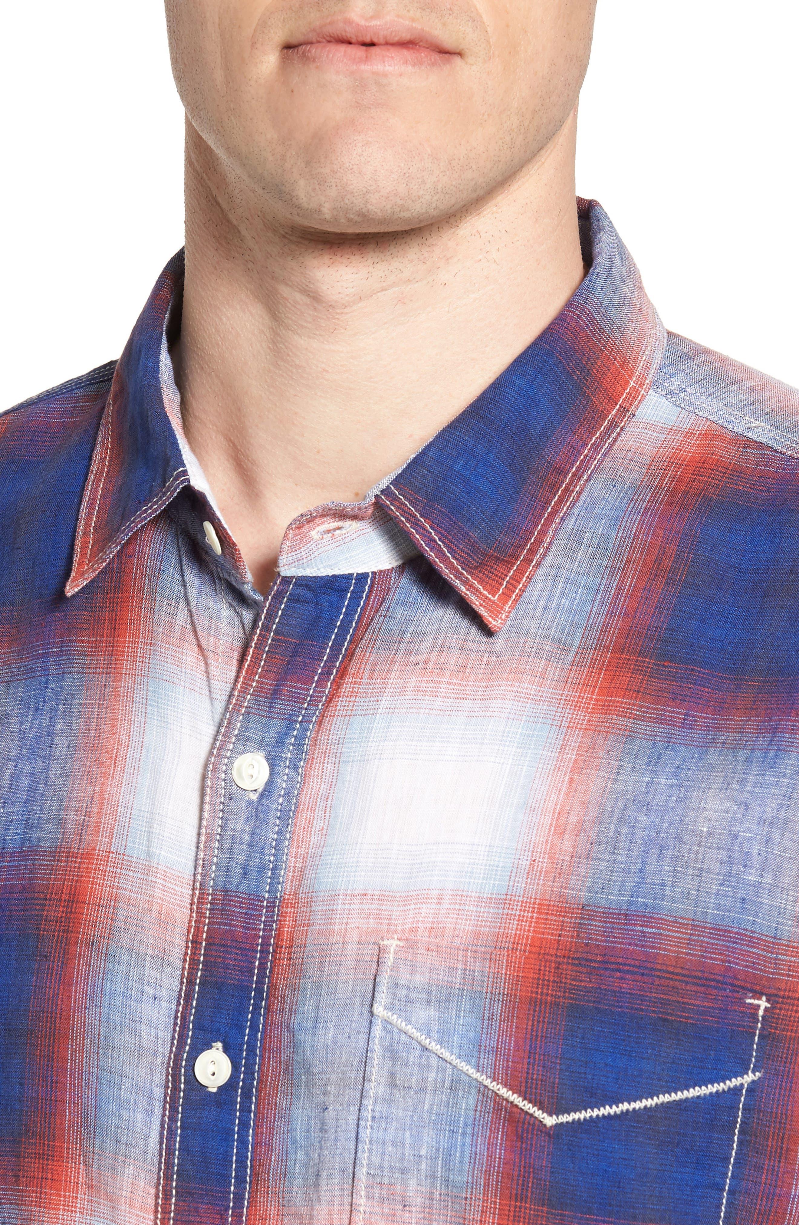TRUE GRIT,                             Salt Creek Classic Fit Sport Shirt,                             Alternate thumbnail 4, color,                             600