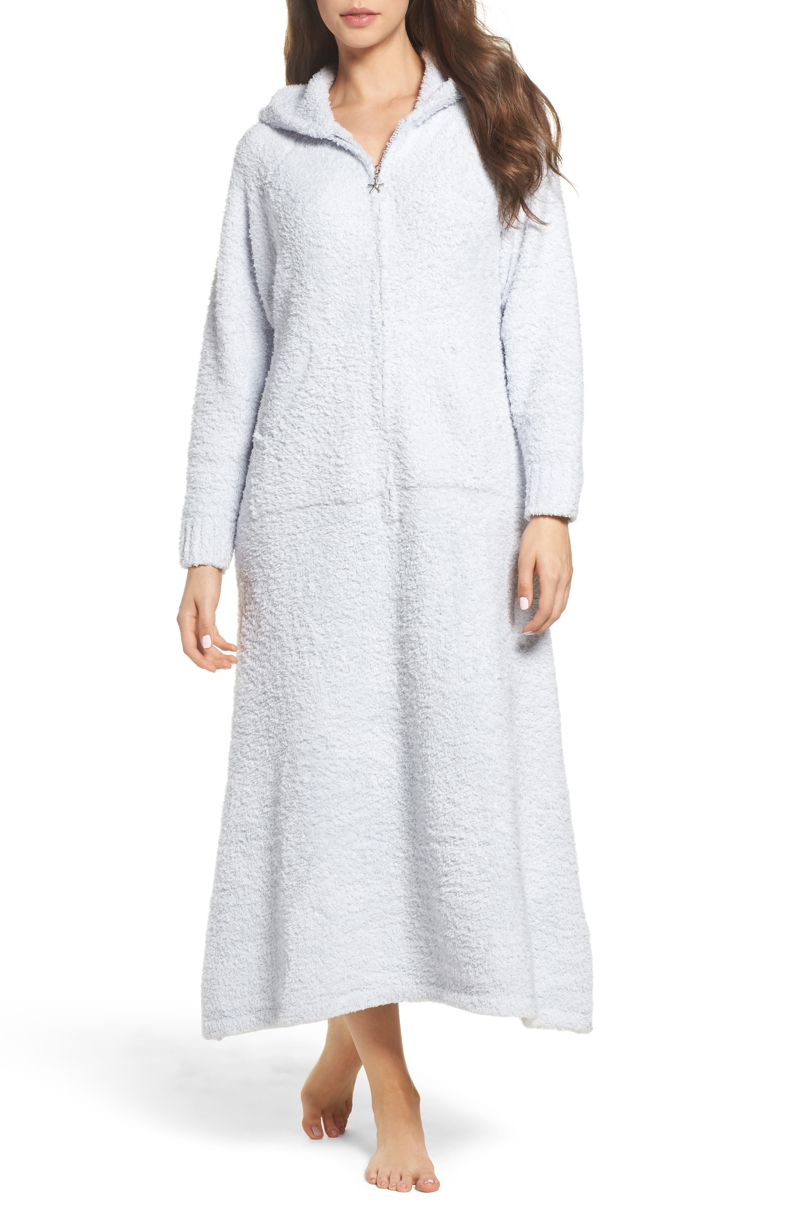 CozyChic<sup>®</sup> Hooded Zip Robe,                             Main thumbnail 1, color,                             BLUE