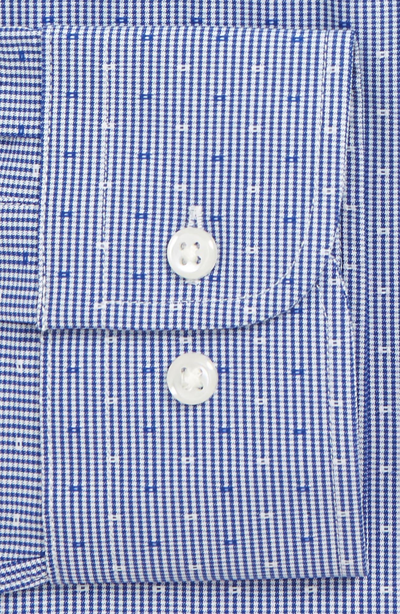Tech-Smart Trim Fit Check Dress Shirt,                             Alternate thumbnail 6, color,
